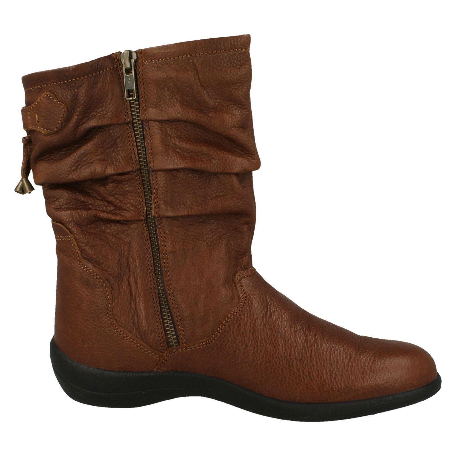 Bottes femme pied large