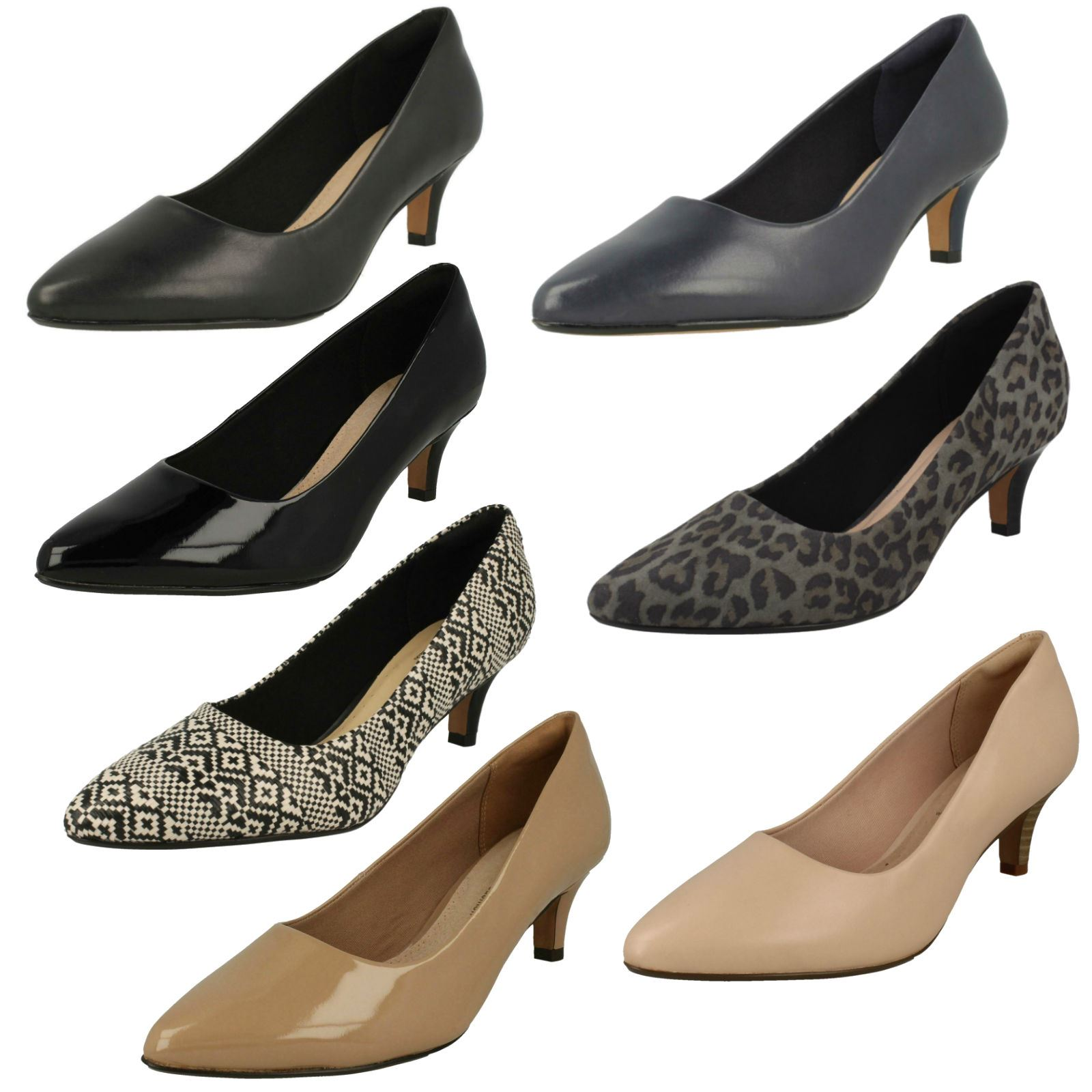 Details about Ladies Clarks Pointed Toe Court Shoes Linvale Jerica