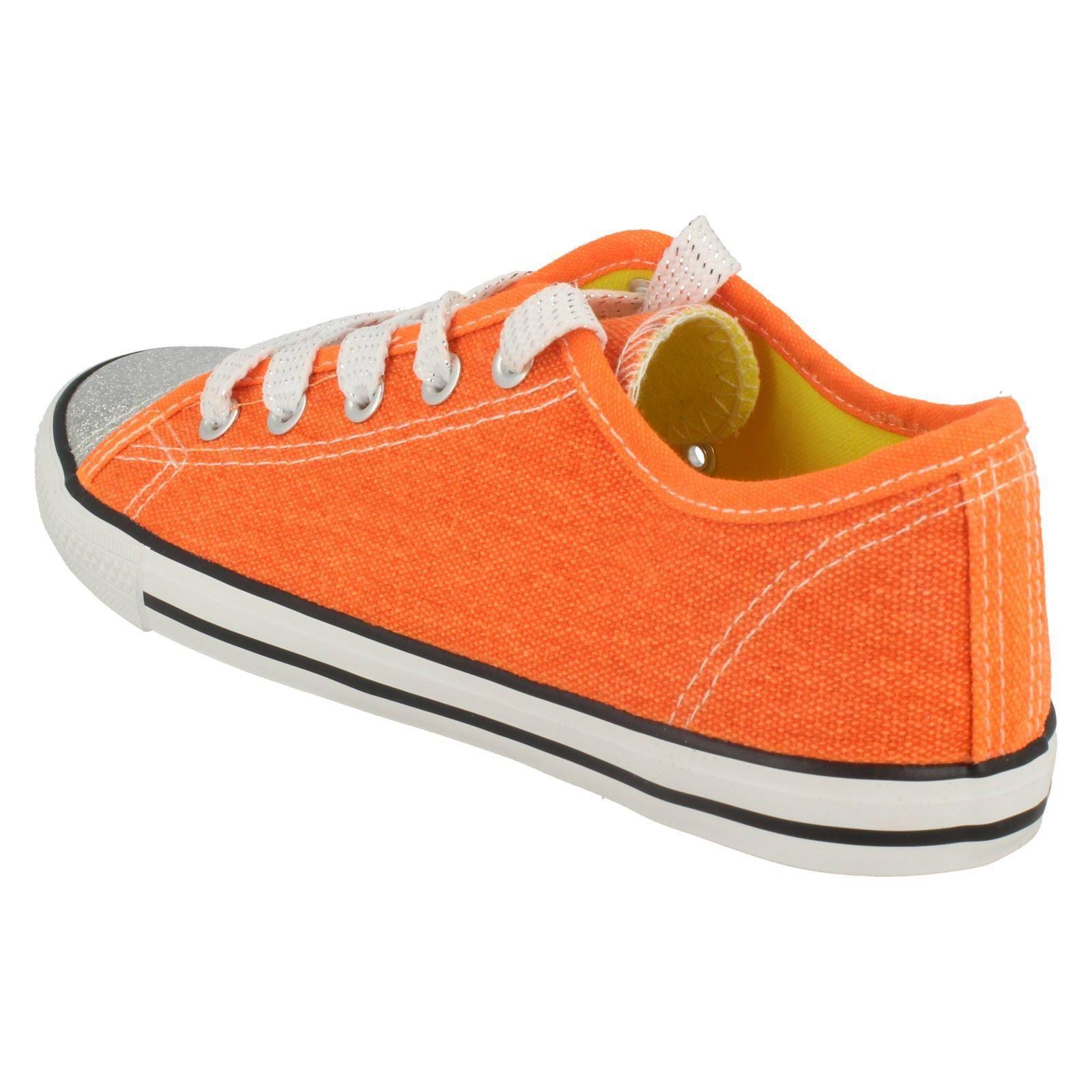 Niñas Punto Sobre Lienzo Zapatos De Salón Con Diseño De Brillo