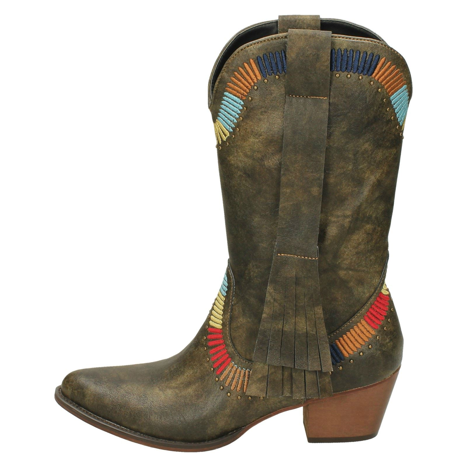 Ladies 'Down To Earth' Earth' Earth' Cowboy Style Boots 86bf94