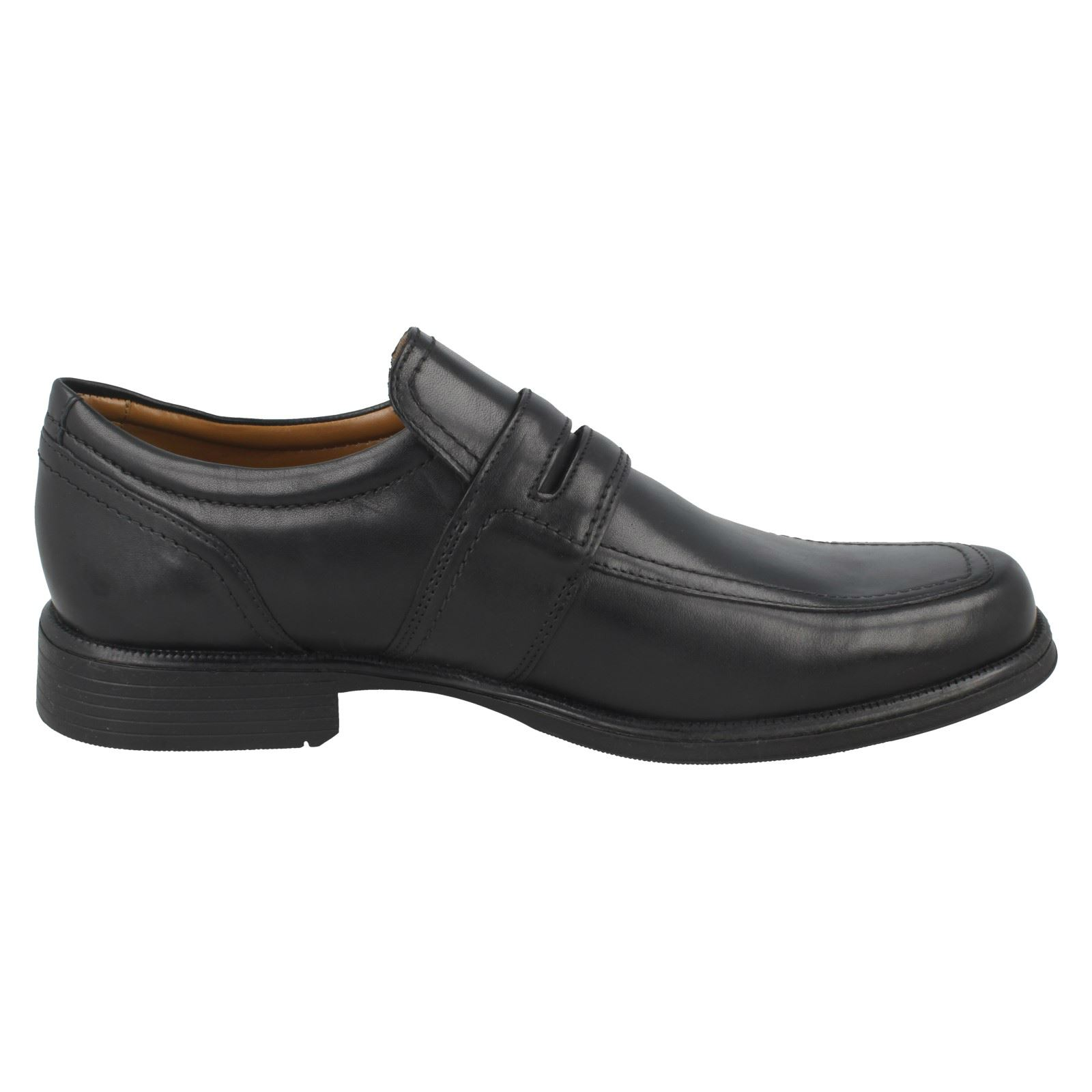 Herren Clarks Ankle Formal Cushioning Formal Ankle Slip On Leder Schuhes Huckley Work ff89d7