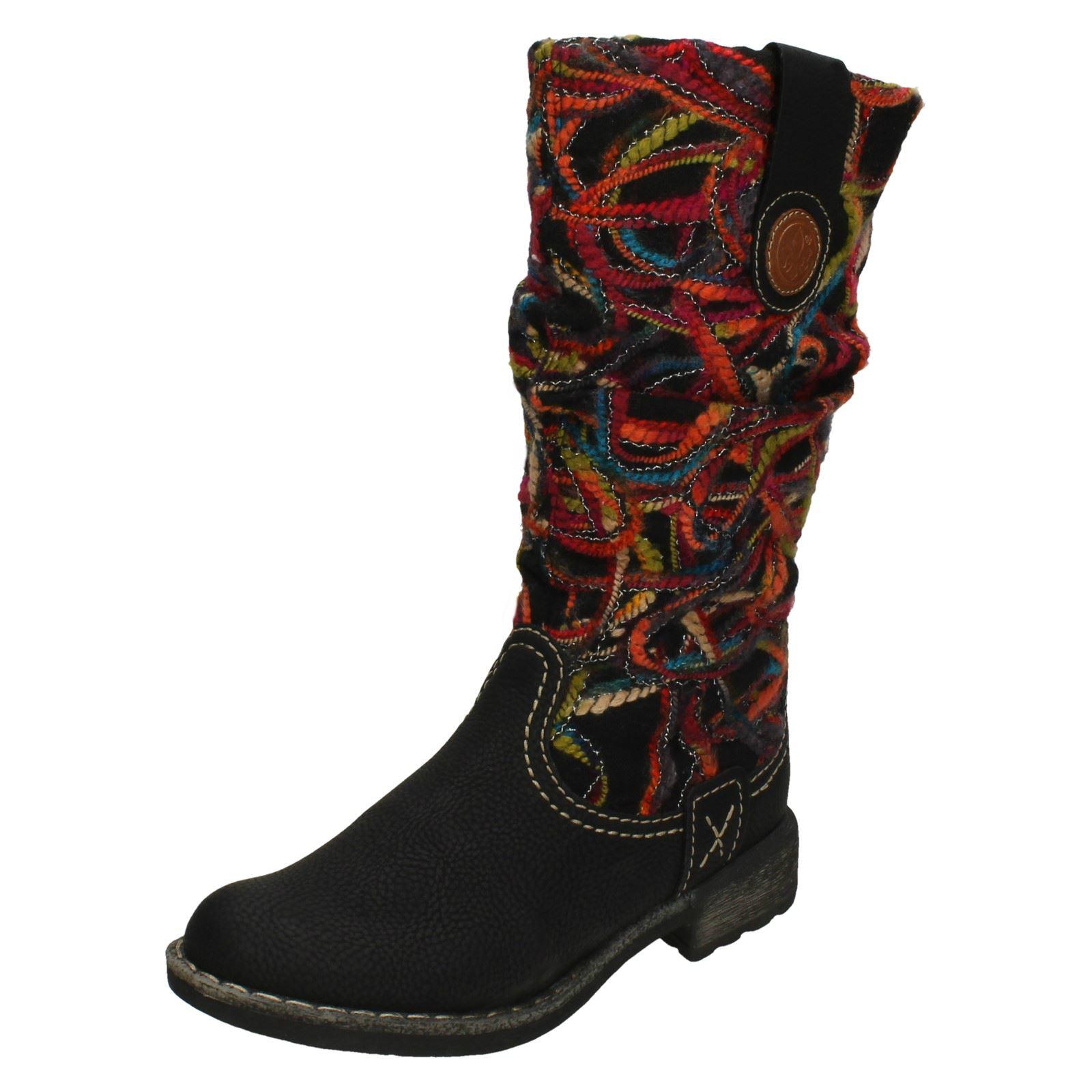 Ladies Rieker Slip On Mid Calf Boots 74663