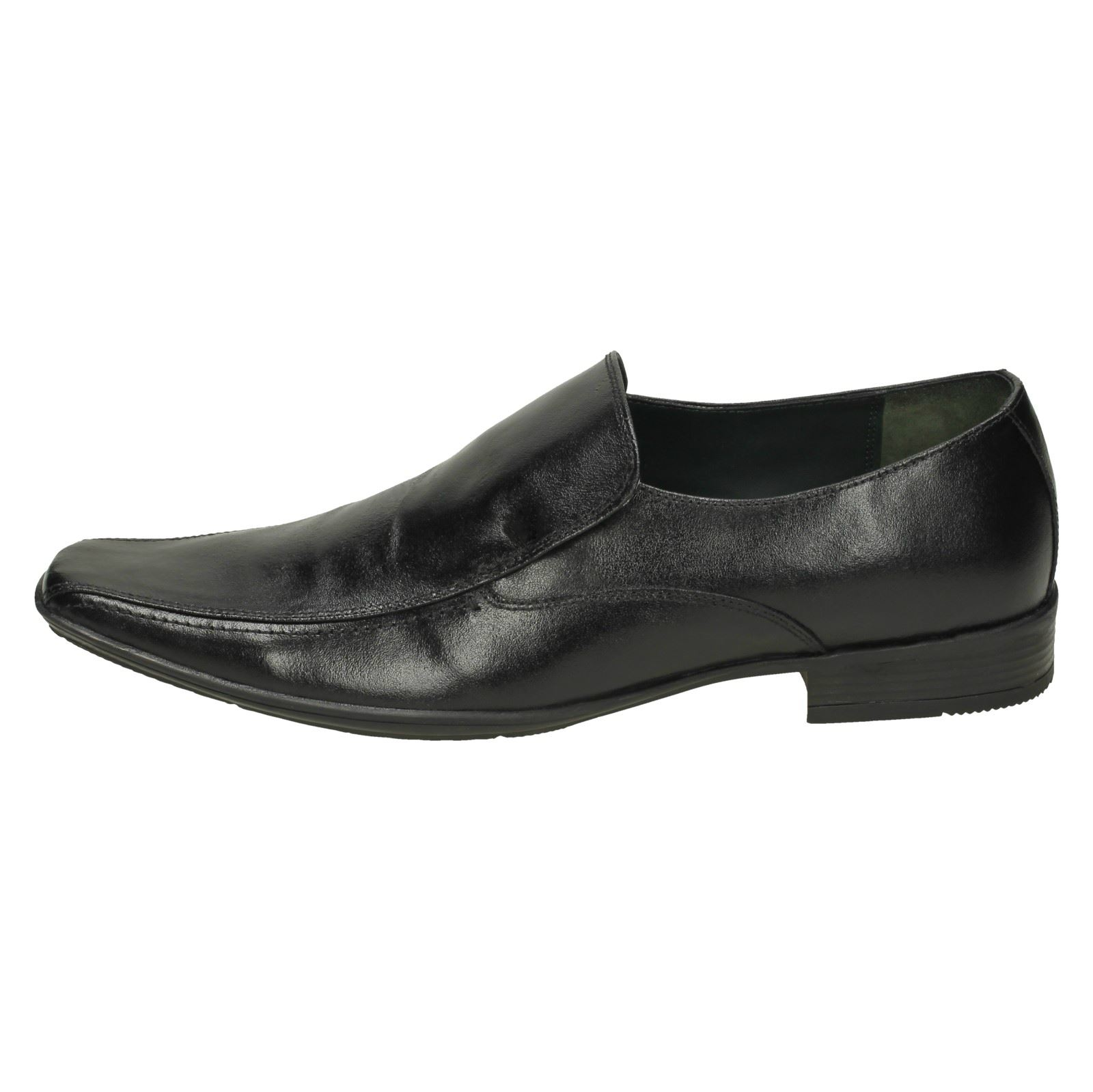 1672 Lambretta Black Slip On Smart Shellan Mens Shoes wqf6BH