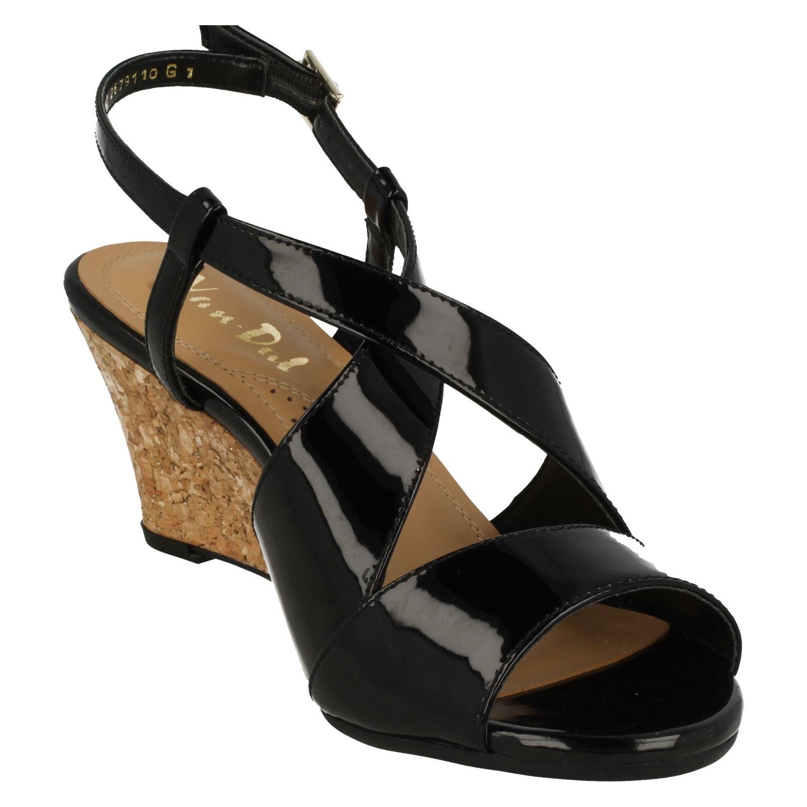 Ladies-Van-Dal-Cross-Strap-Wedged-Sandal-Allora thumbnail 19