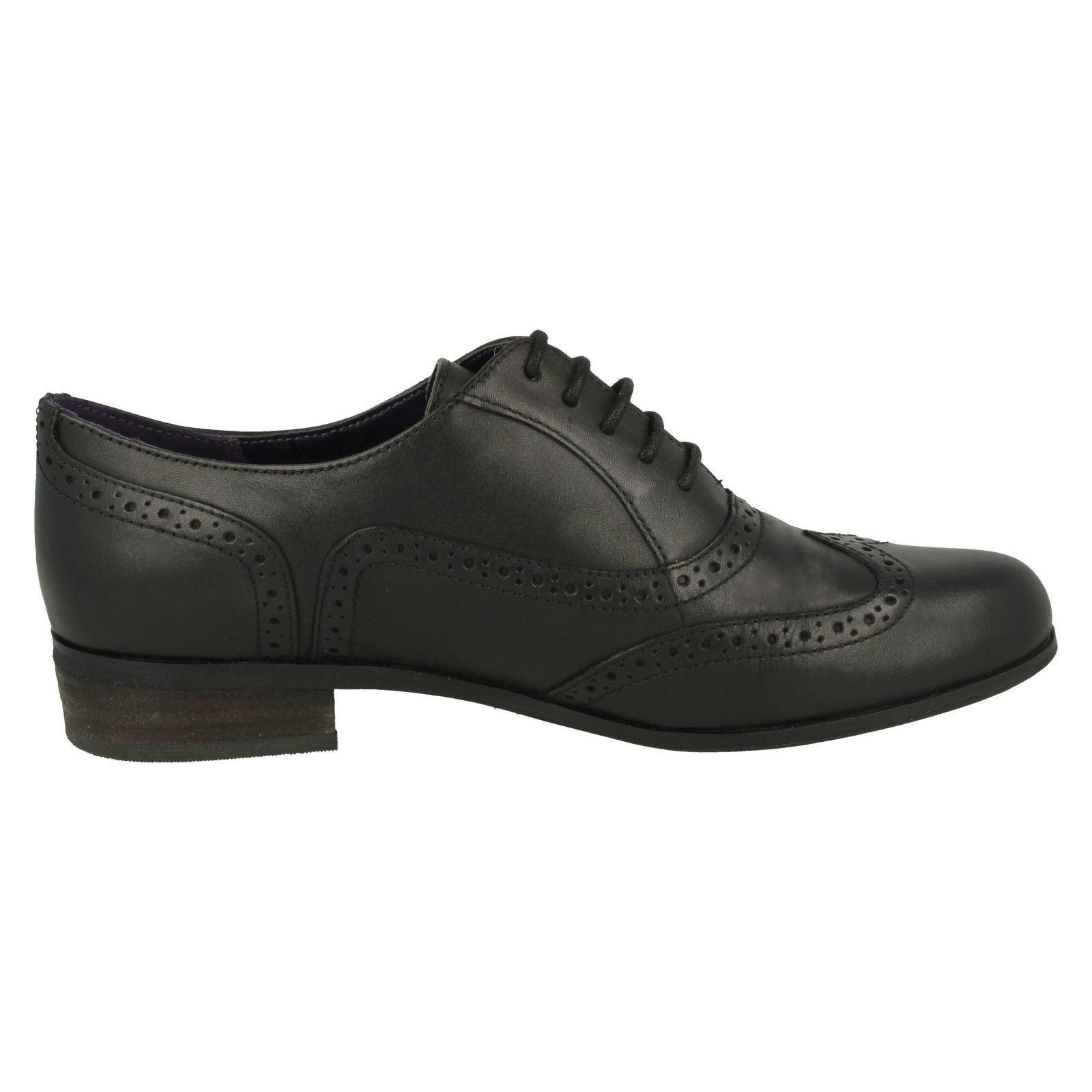 134ba0d9035 Clarks Ladies Vintage Style Leather Patent Lace Up Brogue Shoes ...