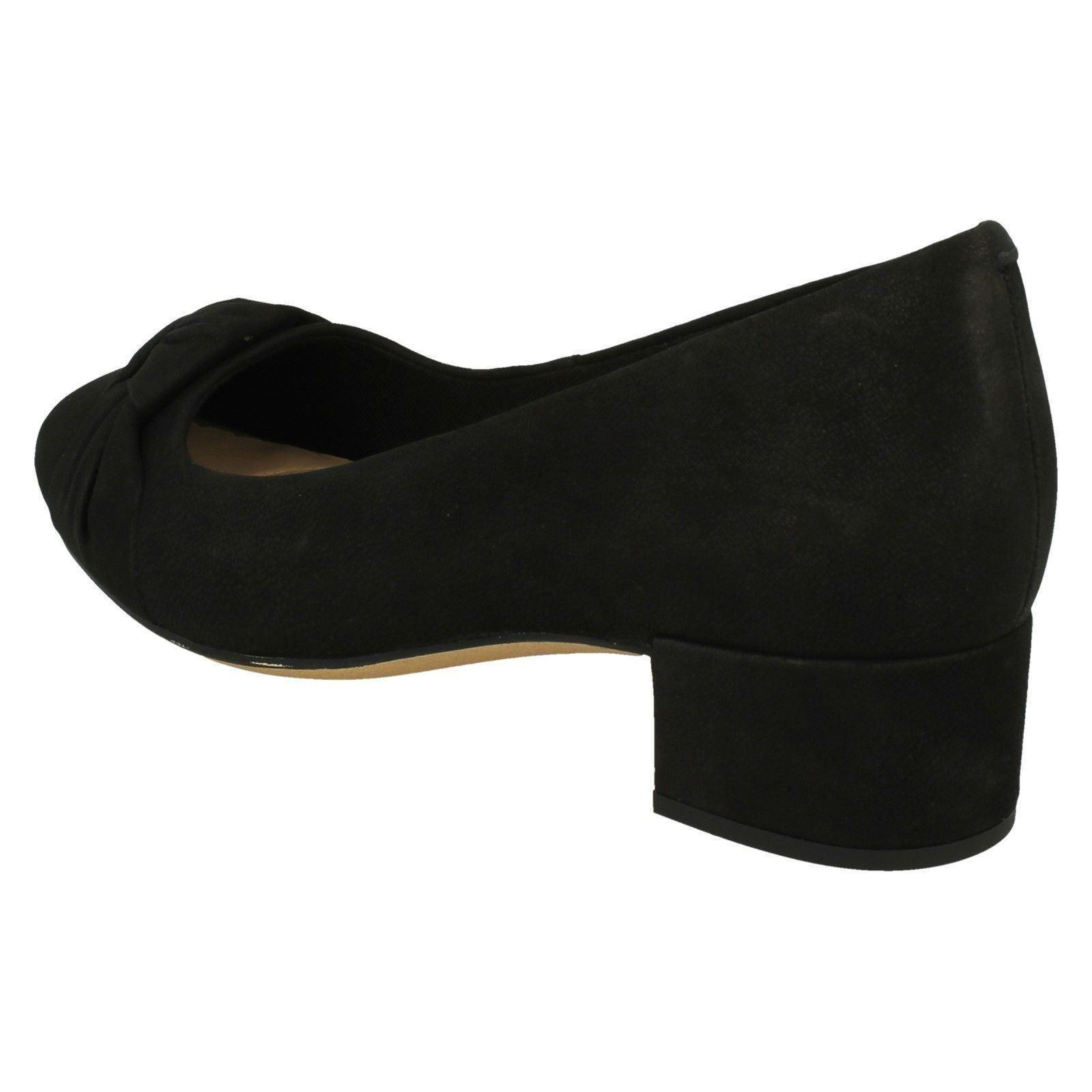 'Ladies Clarks' Bow Detailed Block Block Block Heel shoes - Orabella Lily 739069