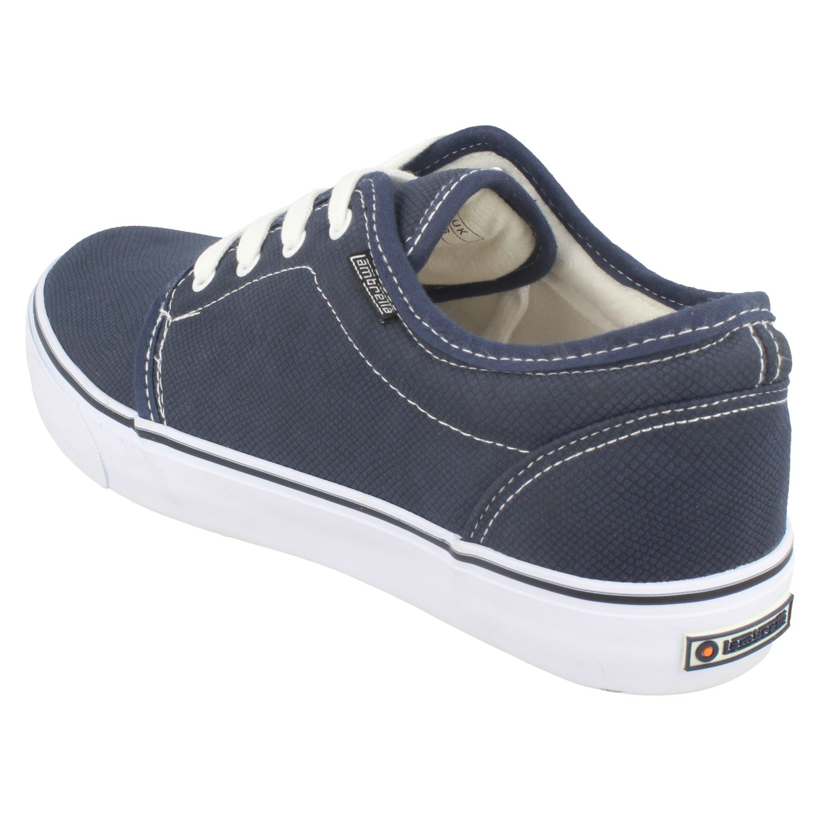 Mens Kids Lambretta Casual Textured Upper Rounded Toe Lace Up Shoes - WDY007