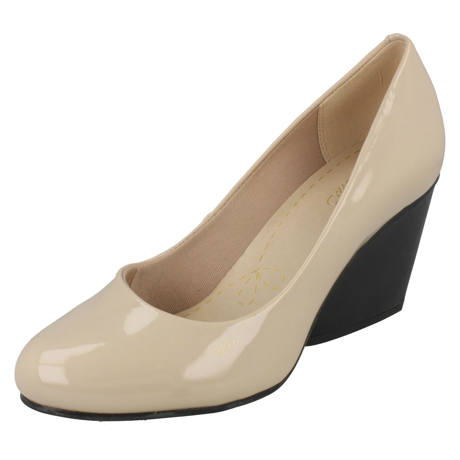 Ladies Clarks Demerara Spice Smart Wedge shoes