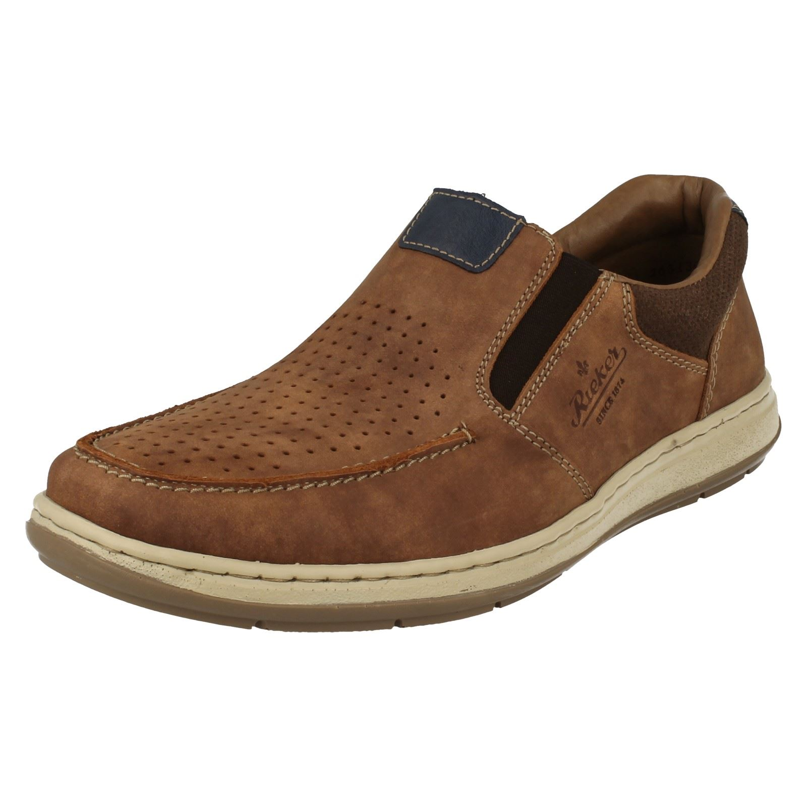 Mens Rieker Moccasin Style Slip On Shoes 17367.
