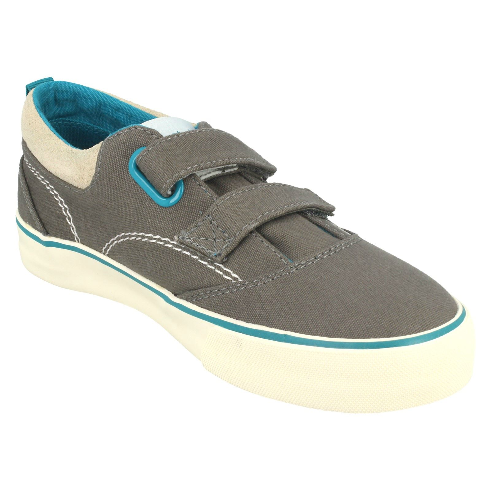 Boys Startrite Hook & Loop Fastening Rounded Toe Summer Canvas Shoes Dinghy
