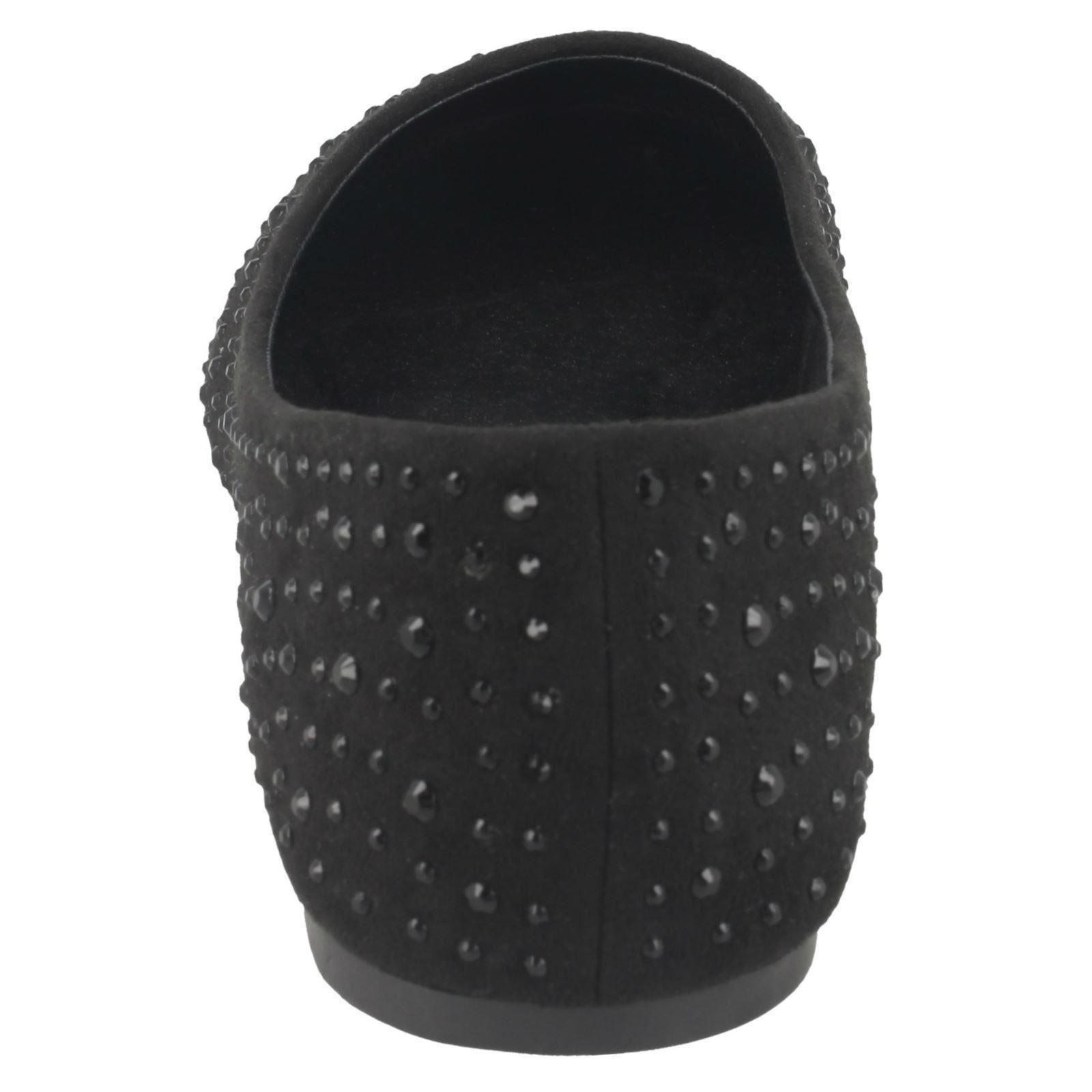 Spot on Señoras Diamante Bailarina Zapatos