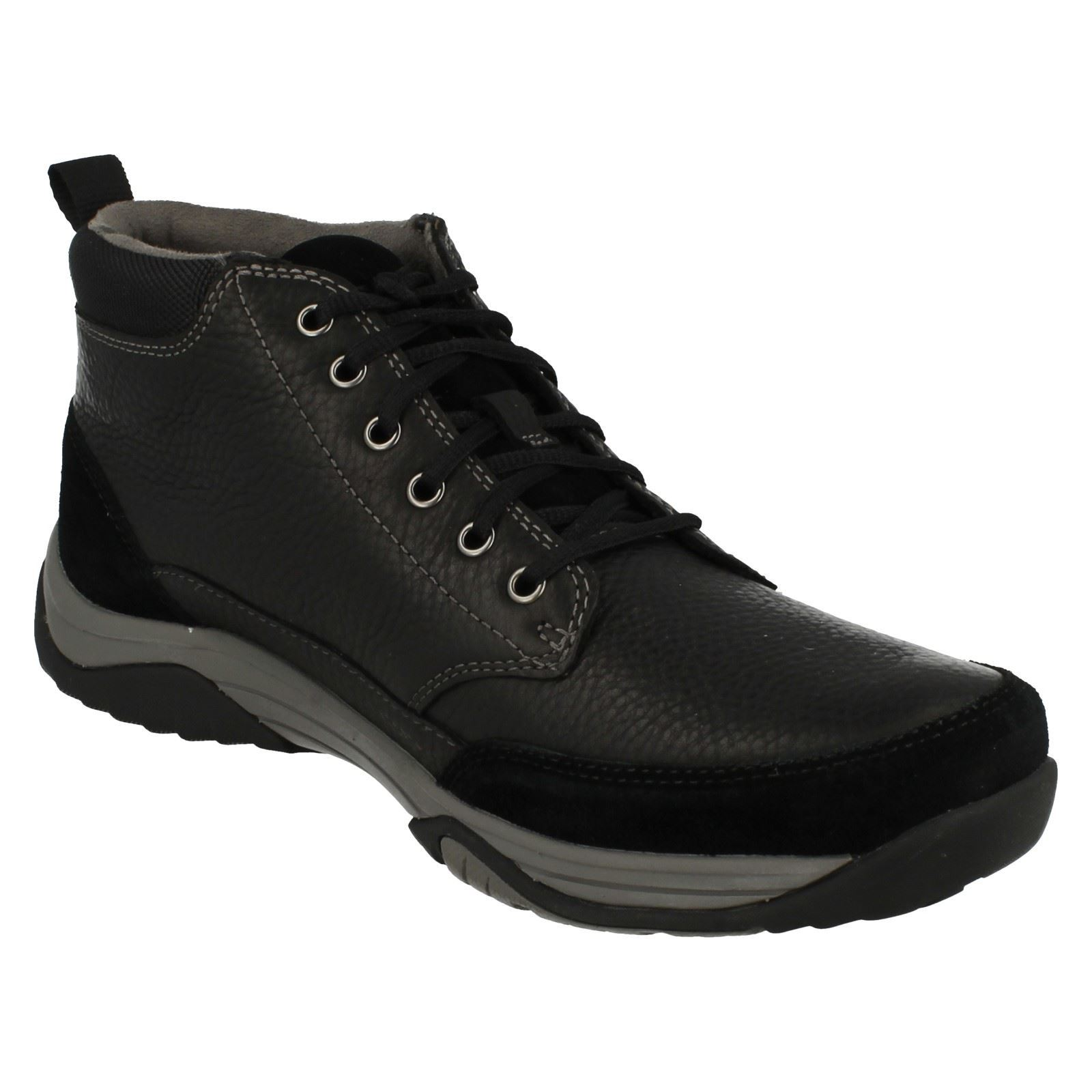 'Mens Clarks' Waterproof Lace Up Stiefel - Baystone Top GTX
