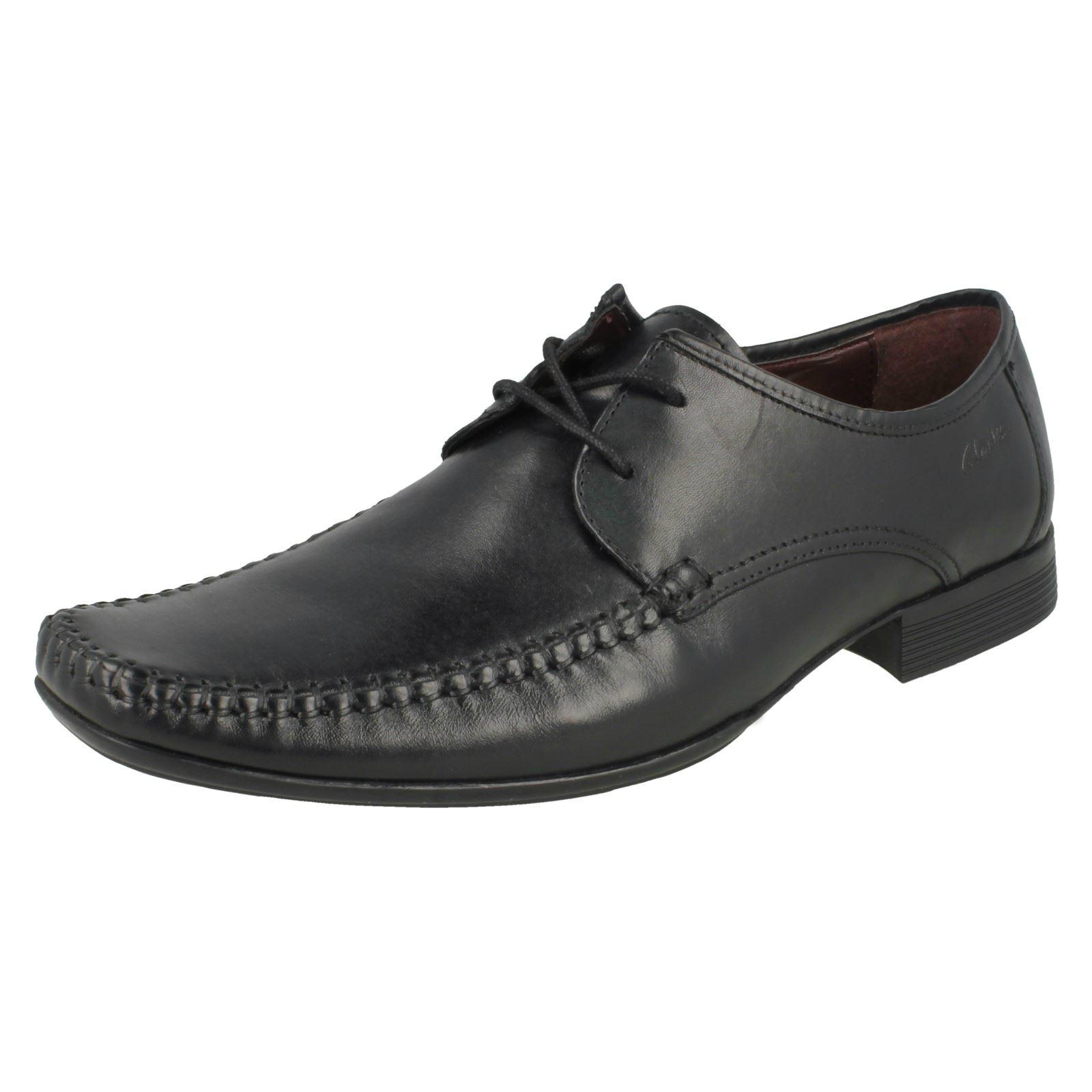 Hombre Squared Cuero Zapatos De Con Cordones Clarks Punta Vestir OvNn0mw8