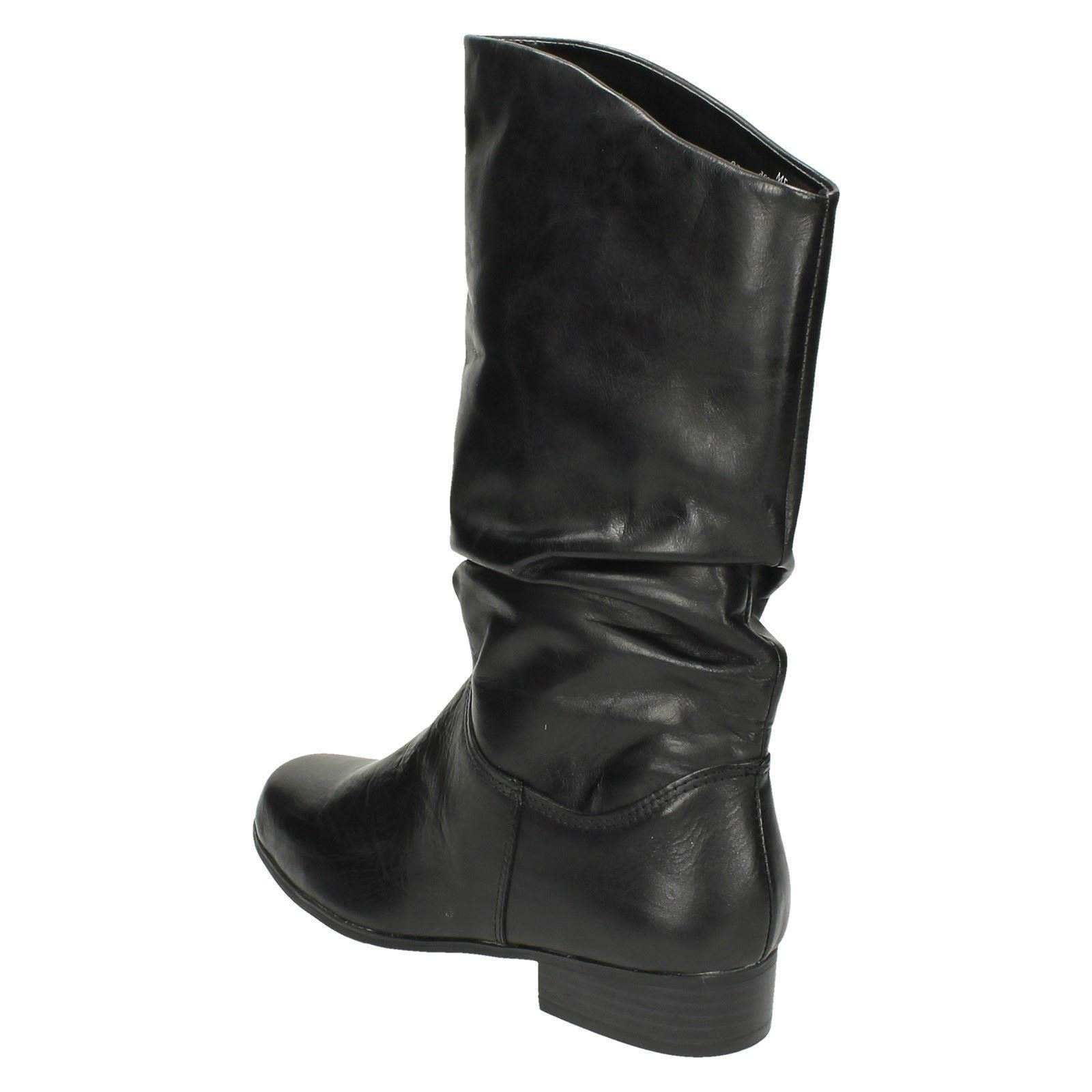 Ladies-Leather-Collection-Casual-Pull-Up-Calf-Length-Boots
