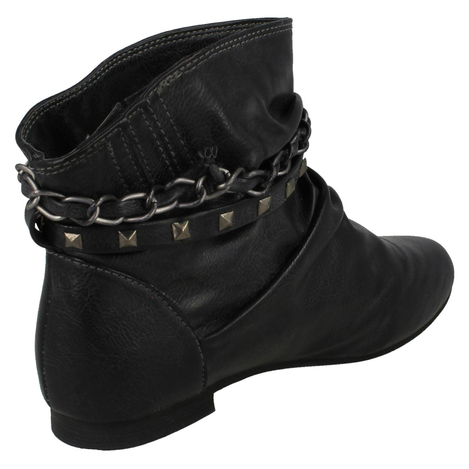 Girls Cutie Chain Strap Boots