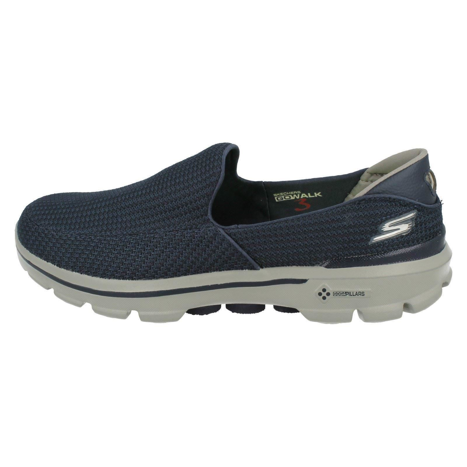 3 Go Walk grå 53980 Mens Skechers Pumps Casual blå Navy wgtaqO