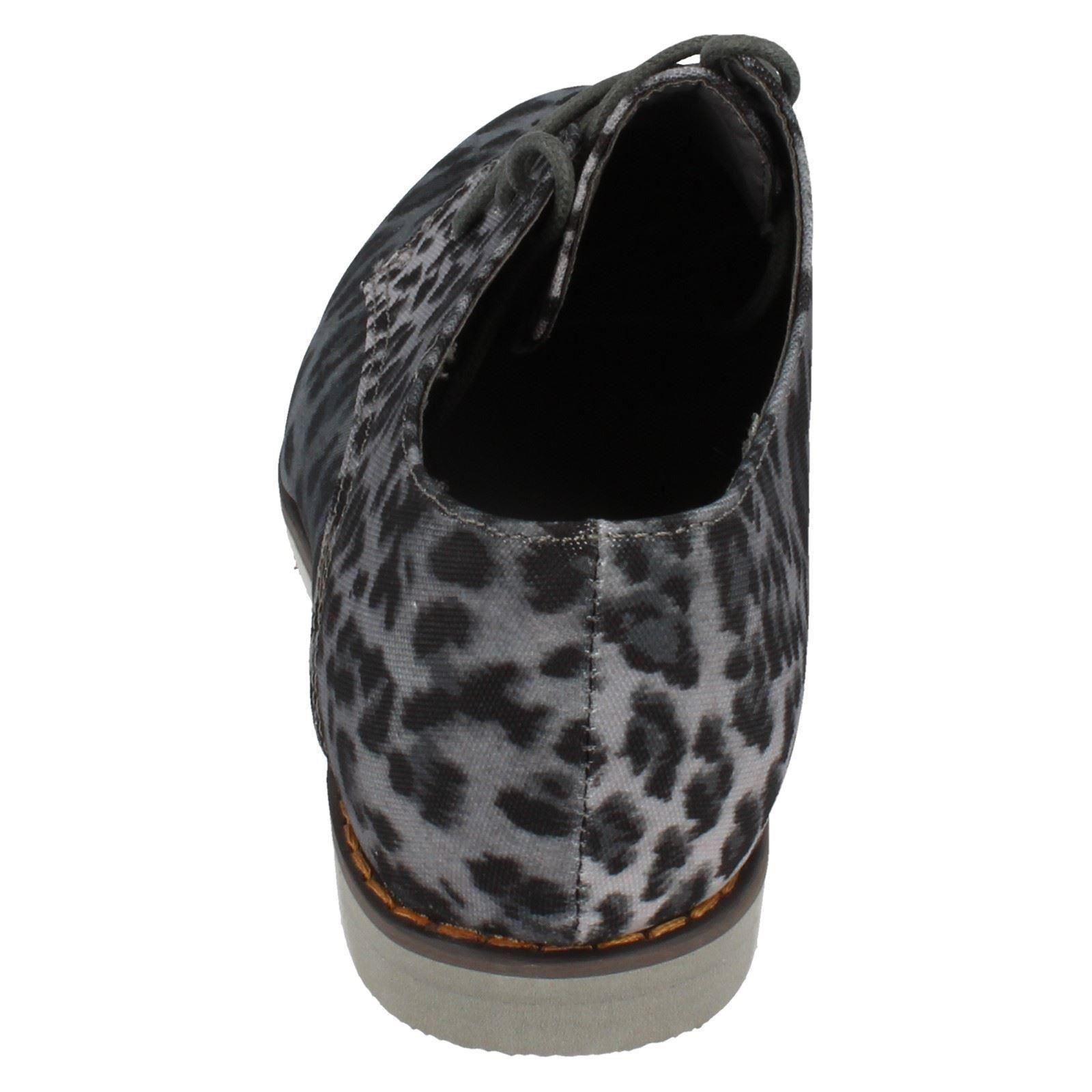 Zapatos planos y señora con estampado de leopardo PUNTO en