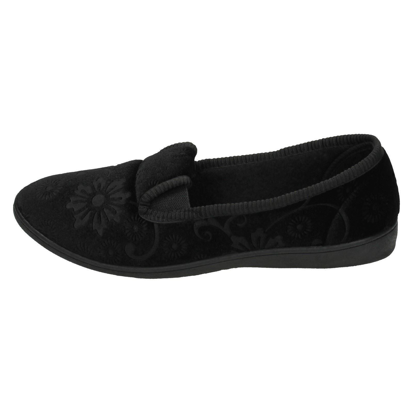 Zapatillas señoras de punto en calidad flor patrón Zapatillas LS20