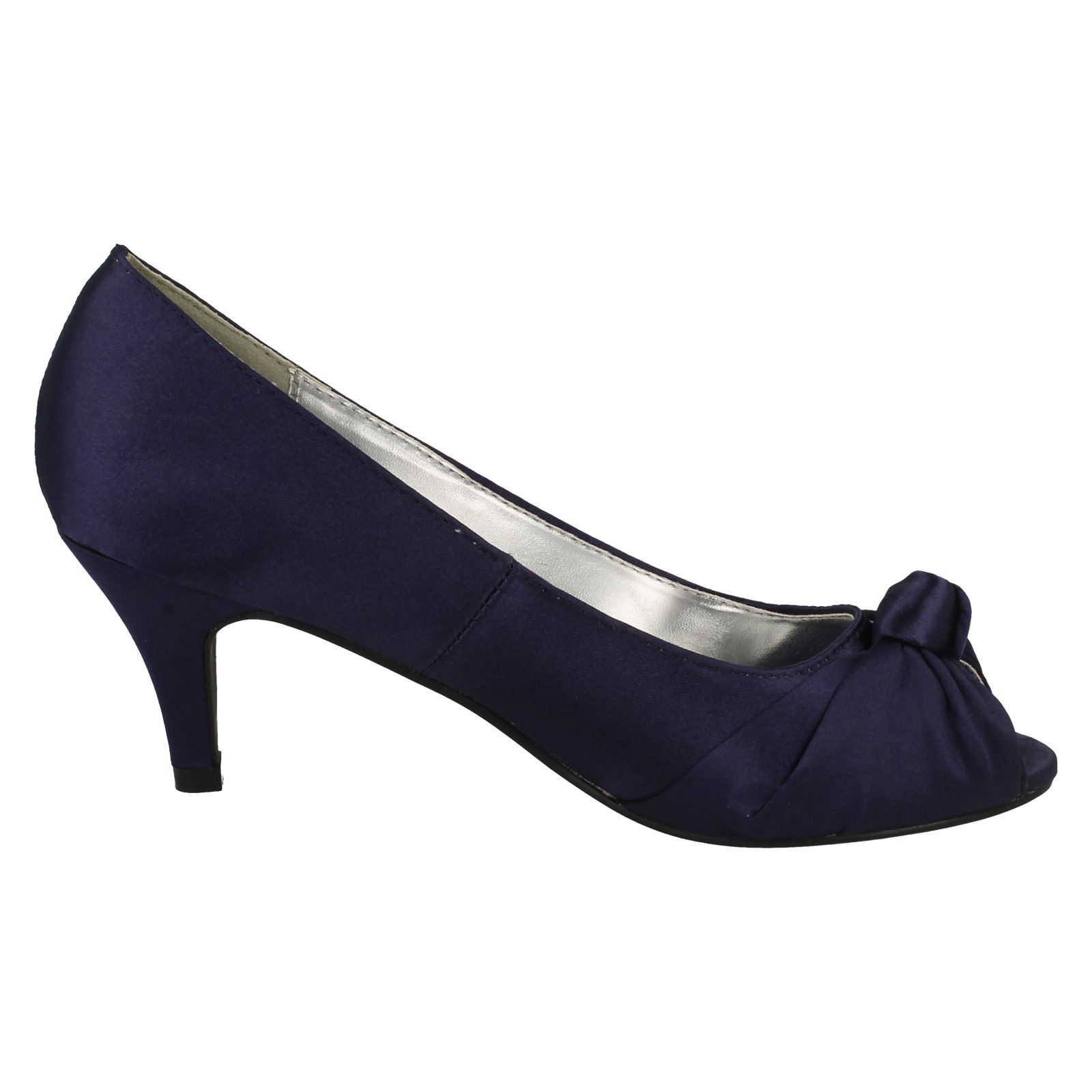 Anne-Michelle-Ladies-Knot-Detail-Peep-Toe-Court-Shoe thumbnail 16