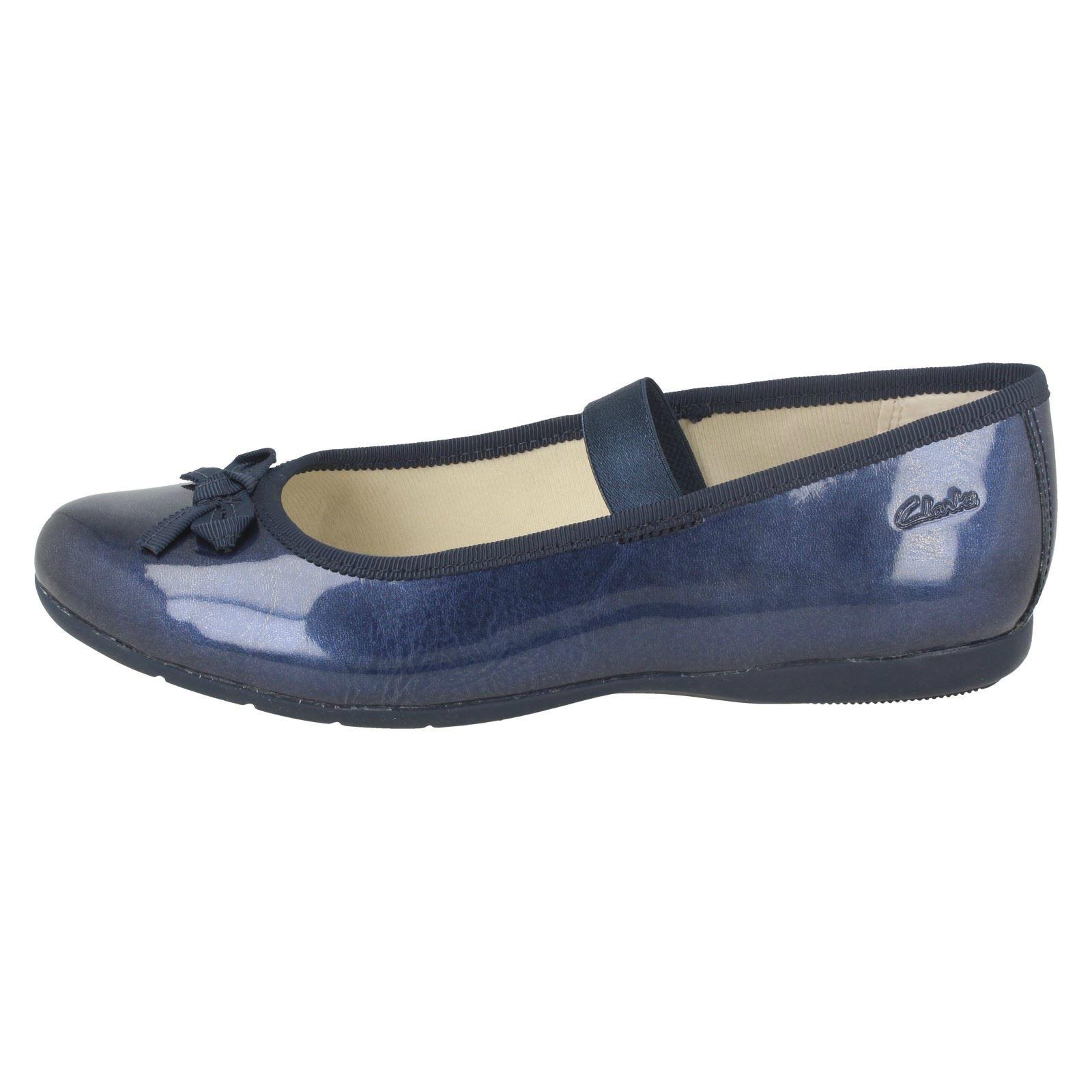 blu Girls Shine Casual Dance Shoes Clarks Navy vY1Rvax