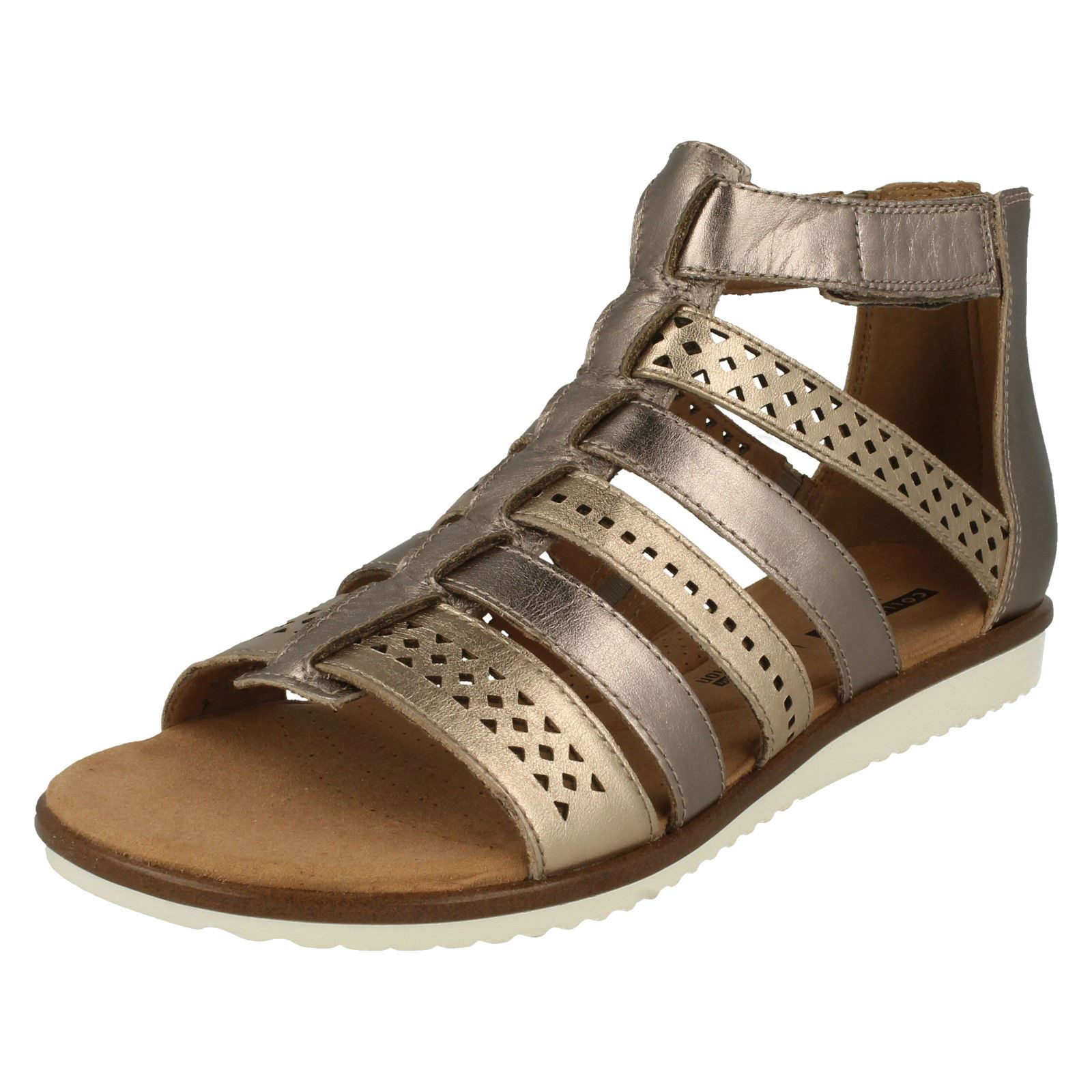 c5673070a52e Details about Ladies Clarks Kele Lotus Gladiator Sandals