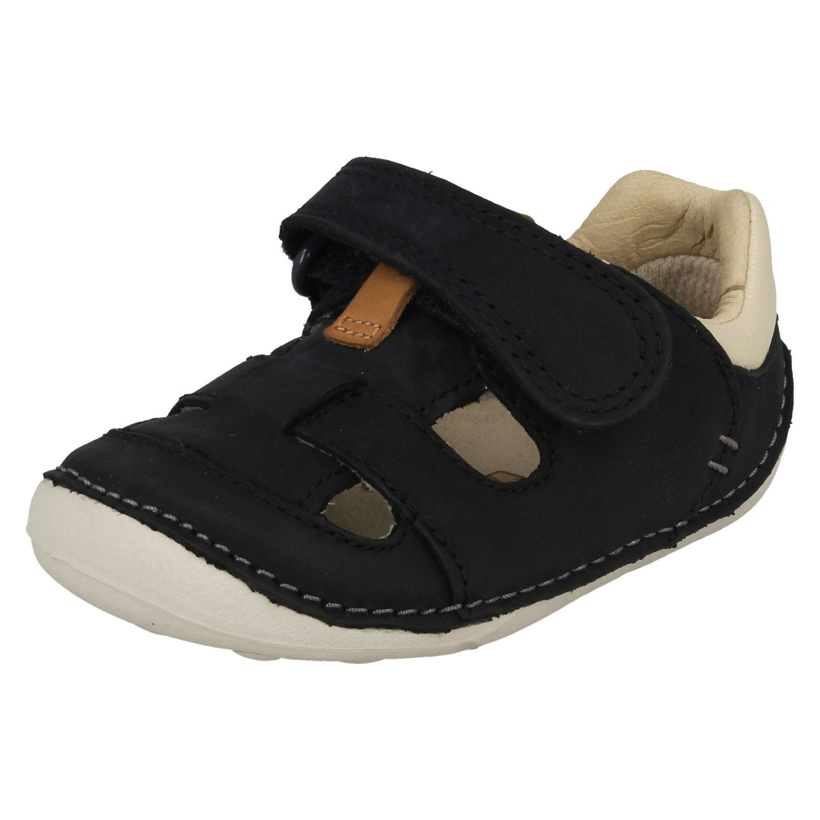 Baby Toddler Boys Clarks Casual Hook & Loop Leather Cruiser Shoes