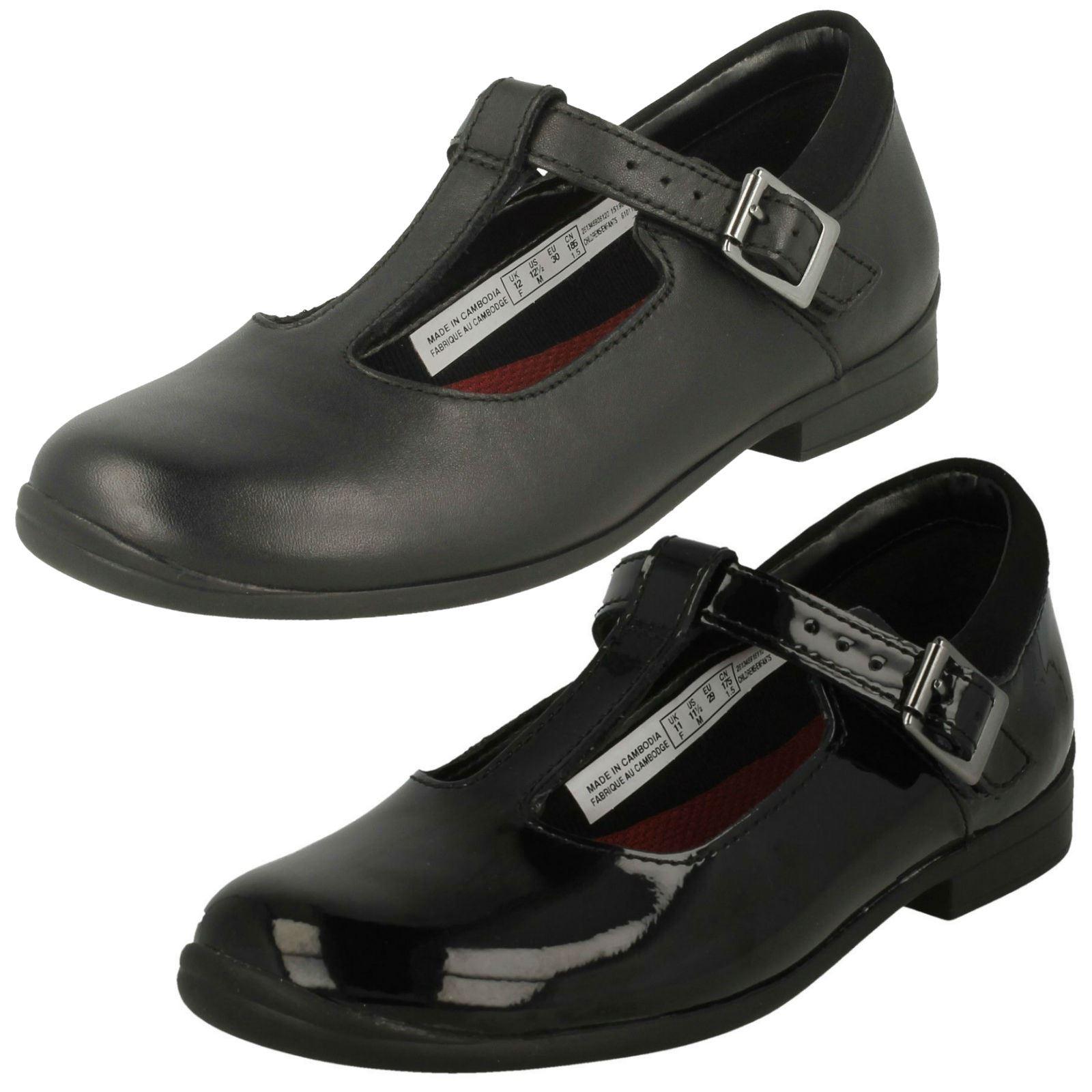 Clarks Girls T-Bar School Shoes Jamie
