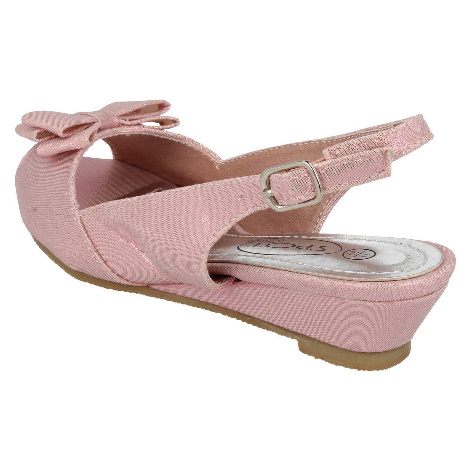Niñas Spot on Peep Toe Fiesta Zapatos H1089