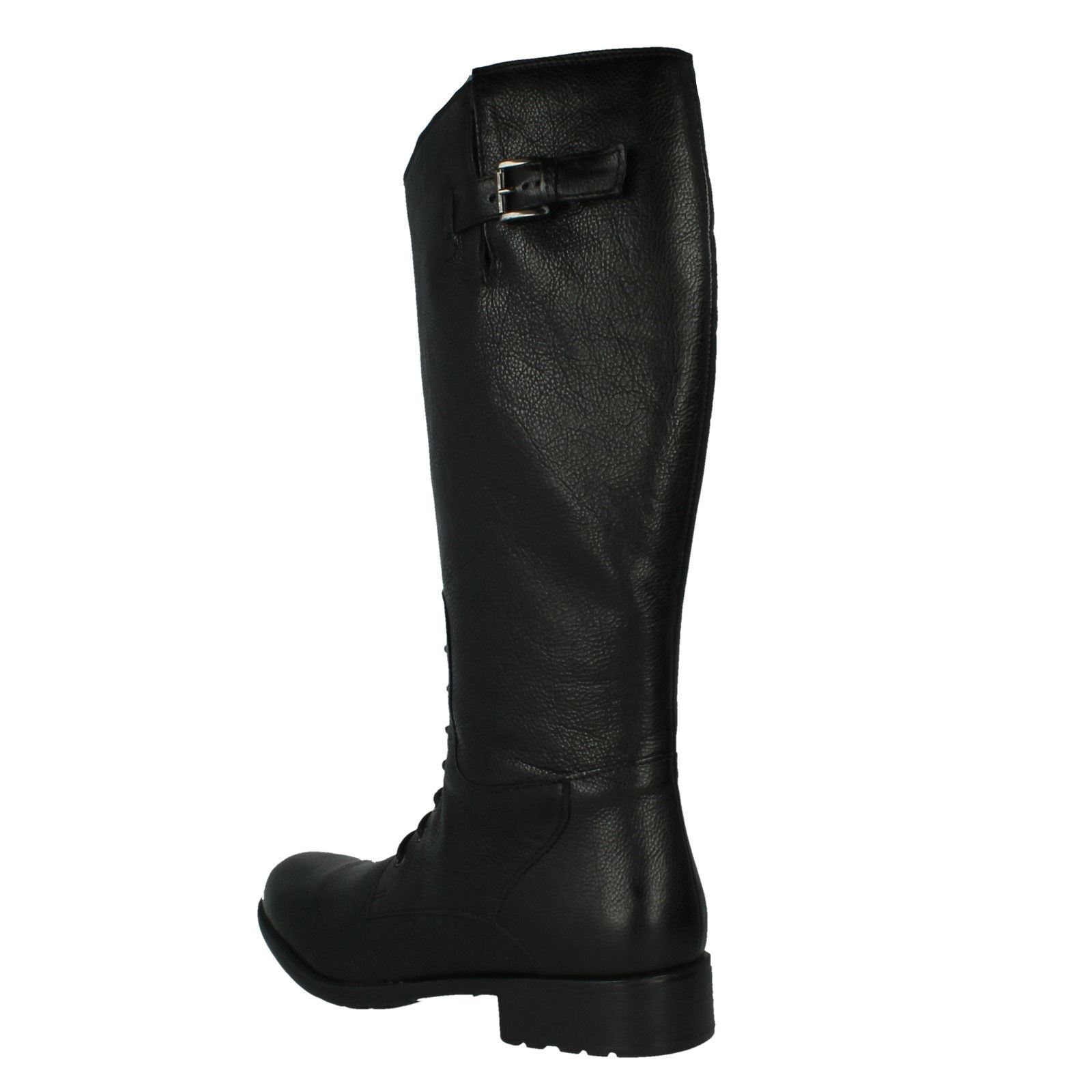 Zip Ladies Black Up Boots Knee Length Clove Mullin Clarks pqAqg