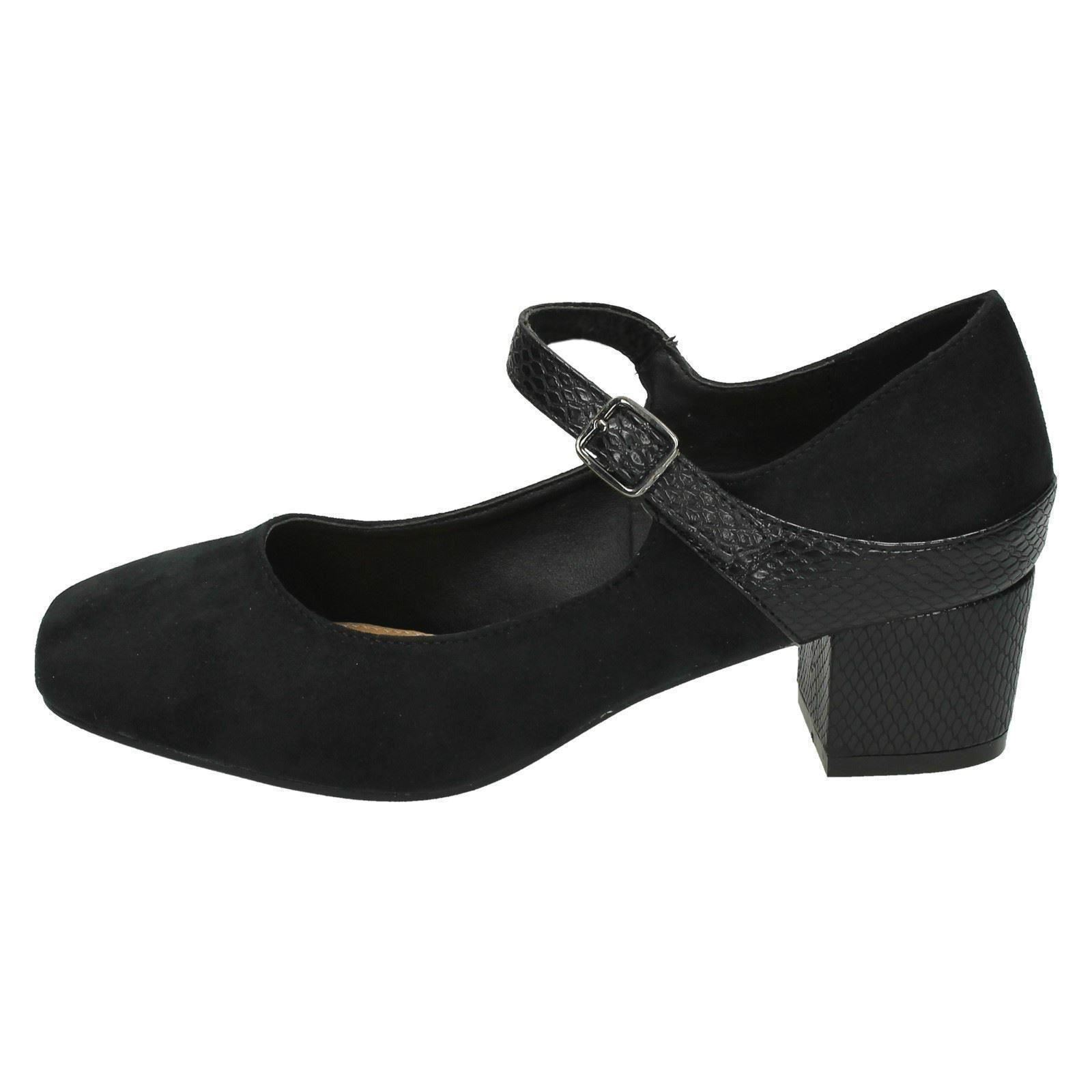 Ladies-Anne-Michelle-Wide-Fitting-Mid-Chunky-Heel-Mary-Jane-Shoes thumbnail 3