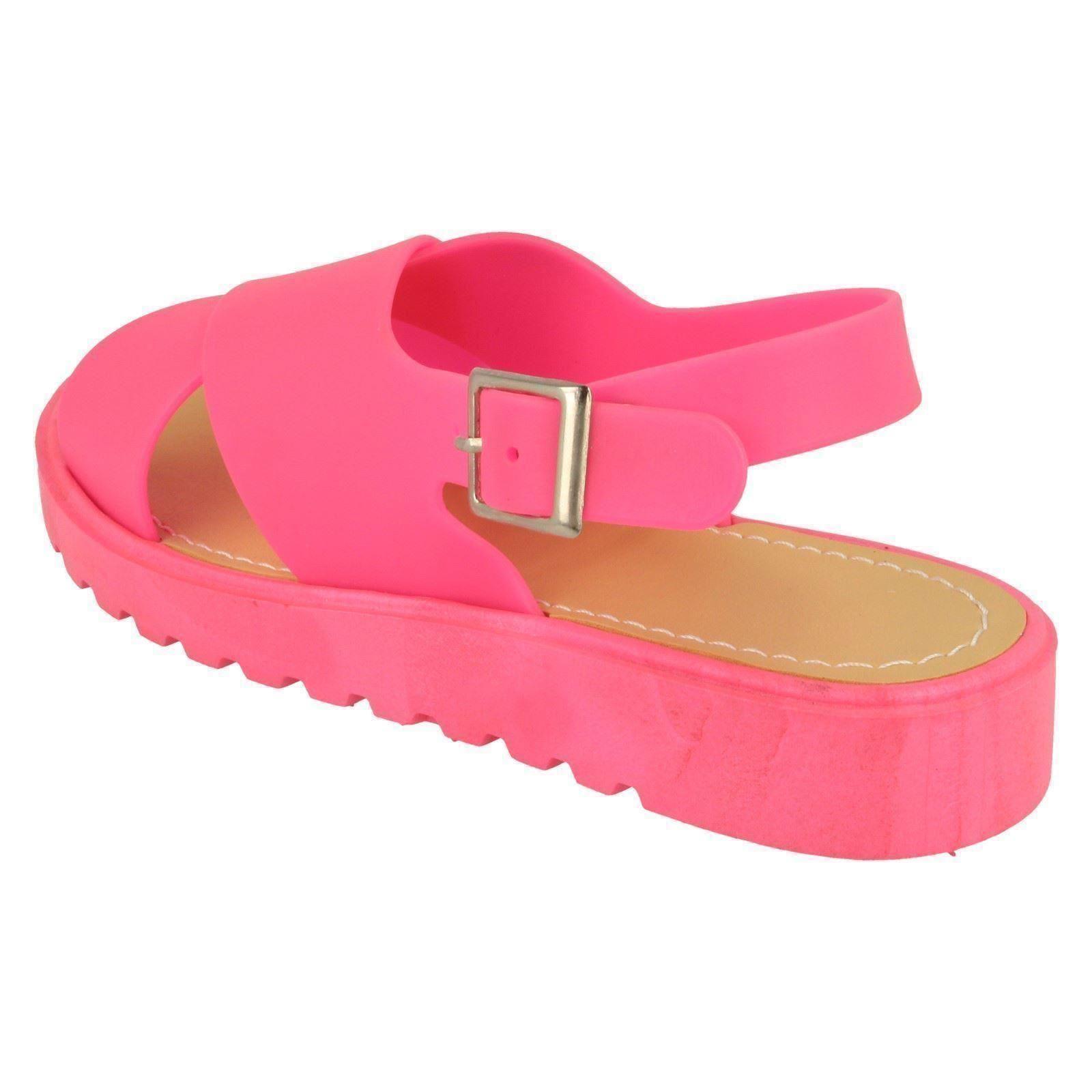 Spot On Girls Low Sling Back X Vamp Sandal