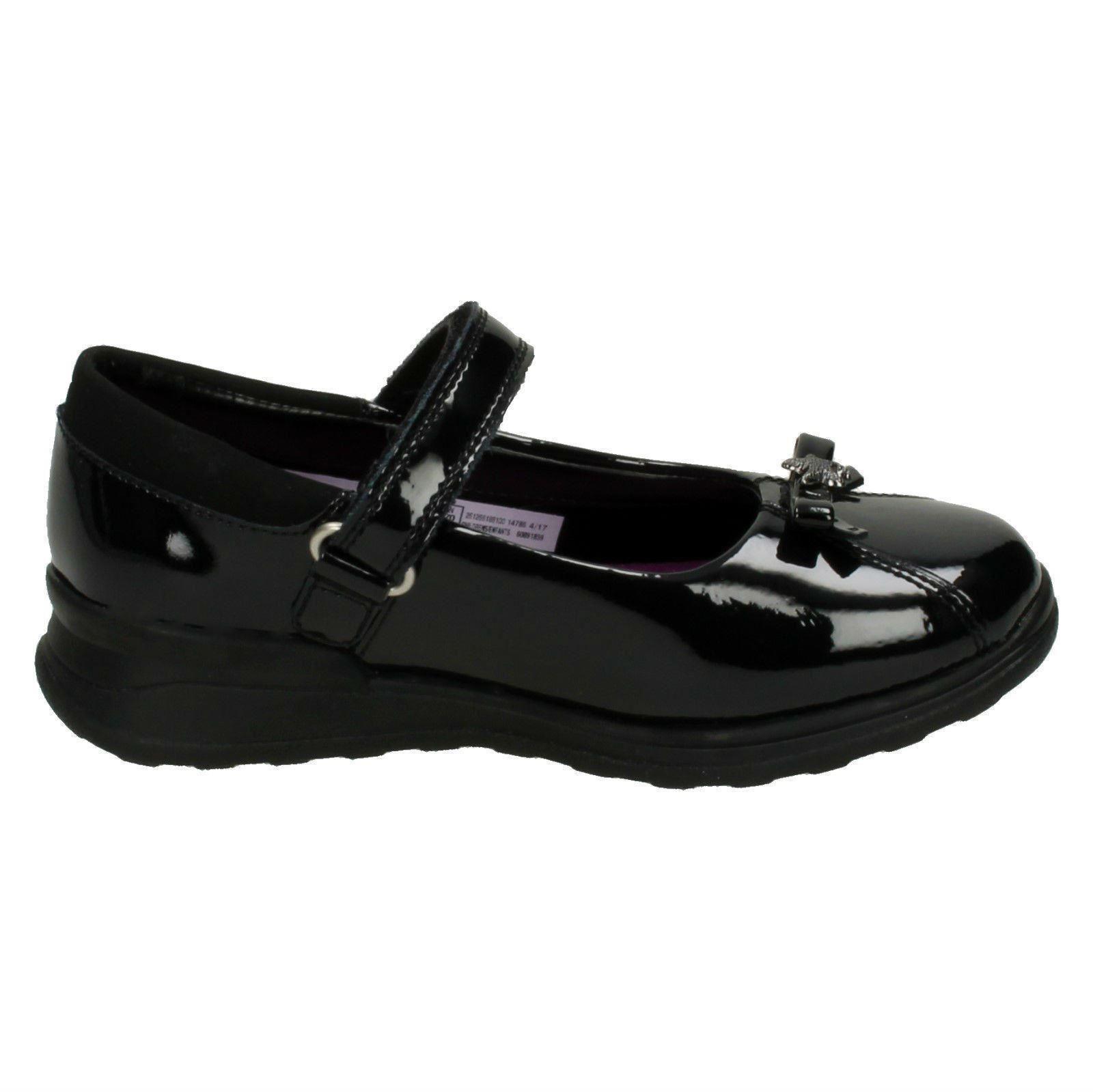 Girls Gloforms By Clarks Bow Trim School Shoes *Mariel Wish Inf*