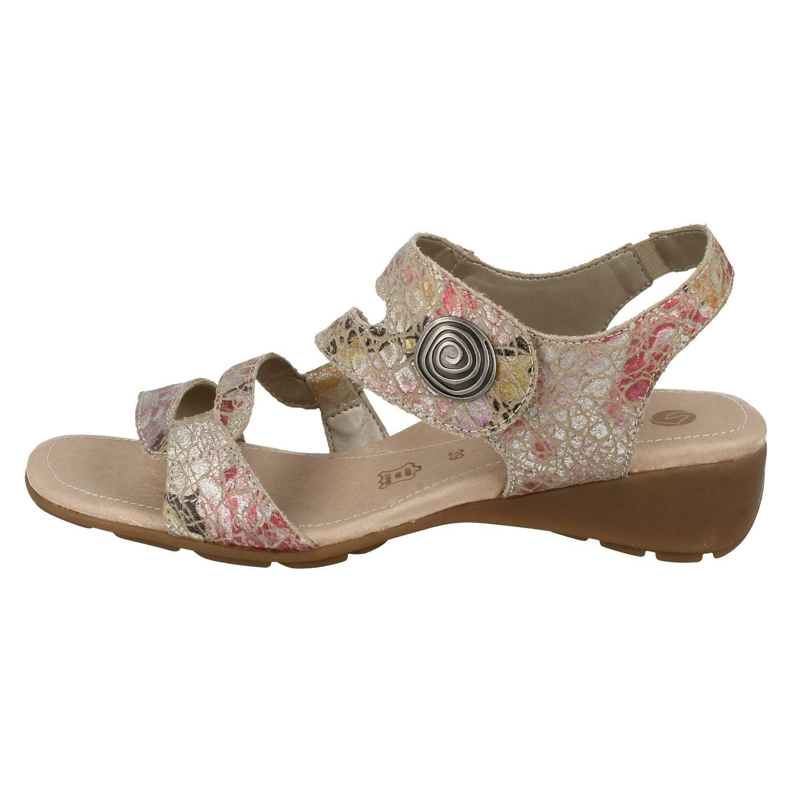 Sandals beige amp; Beige Loop Heel Sling Block R5247 Combi Low Leather Ladies Hook Remonte Back fw6xqvxX7a