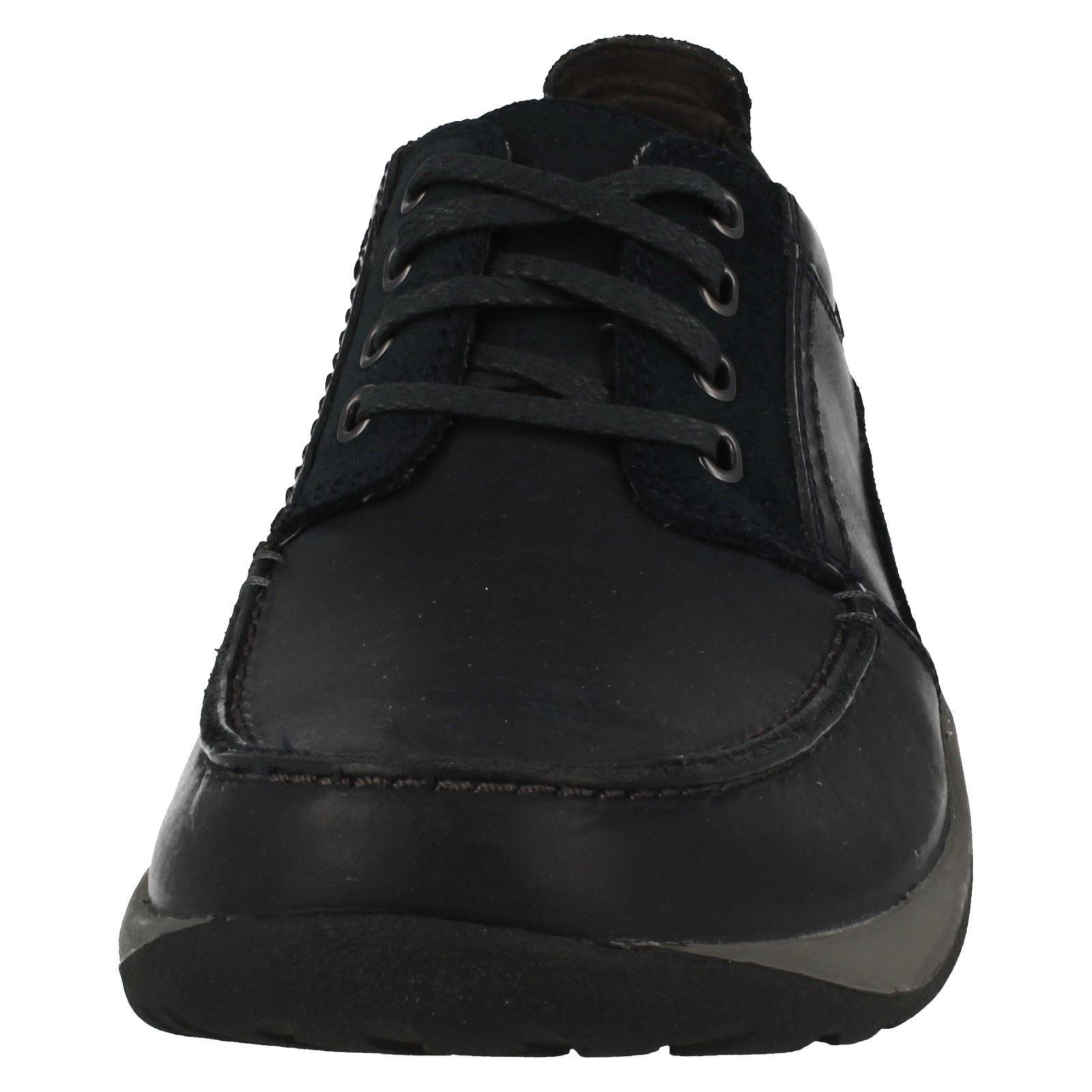 uomo-CLARKS-PELLE-scarpe-casual-con-lacci-ITINERARIO-passeggiata