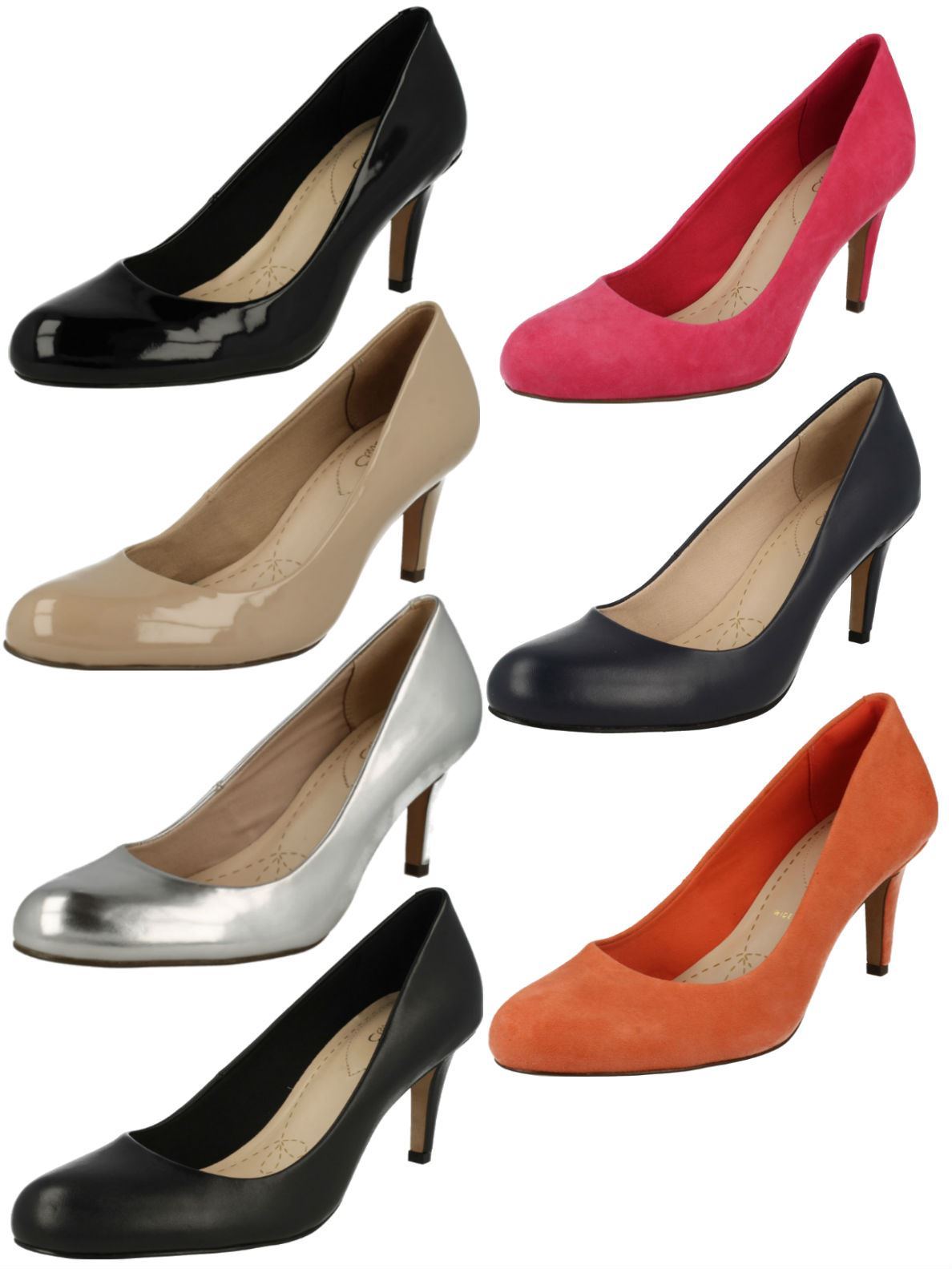 Ladies Clarks Fashion Court Shoes 'Carlita Cove'