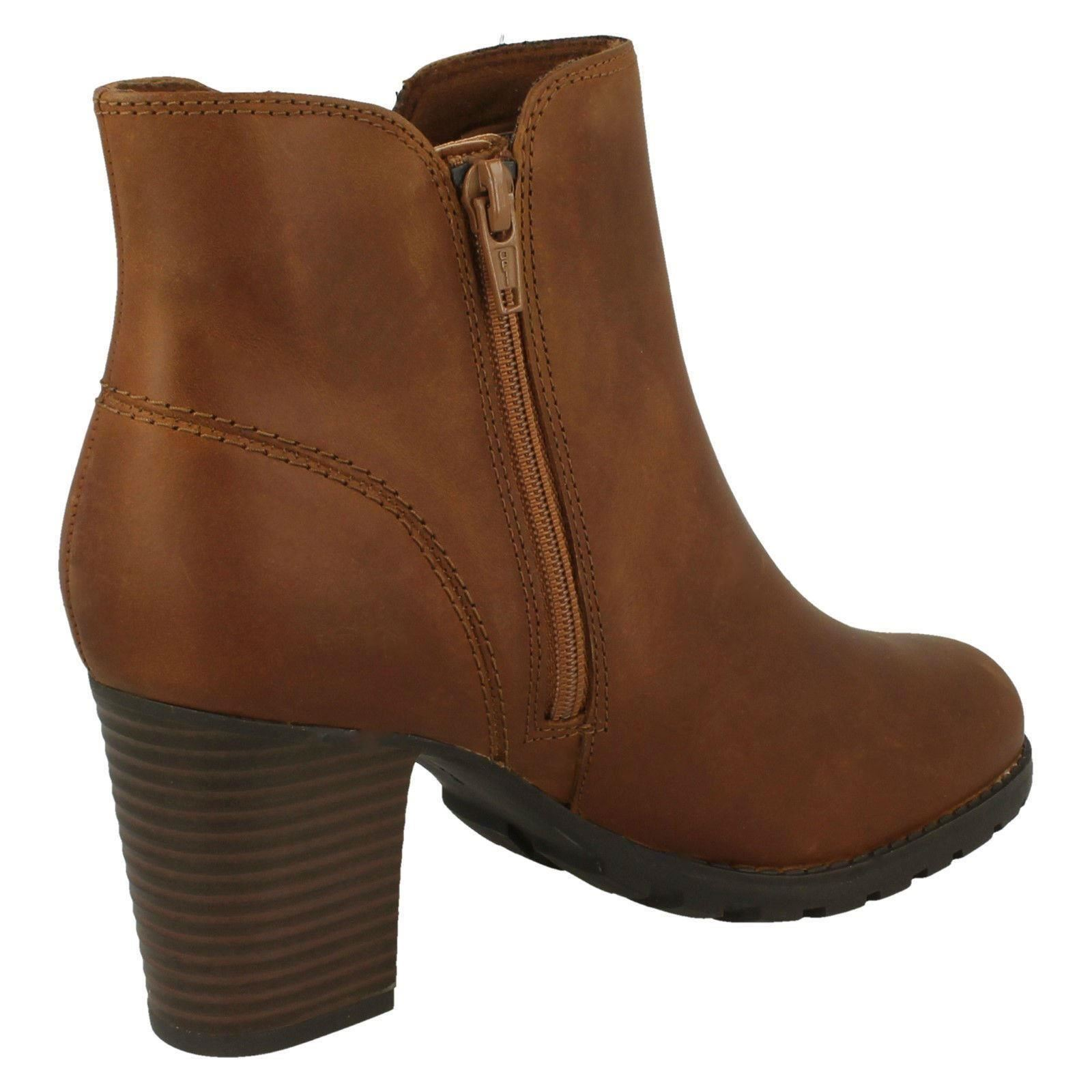 Womens Clarks-Zip Up Ankle Boots Verona Trish