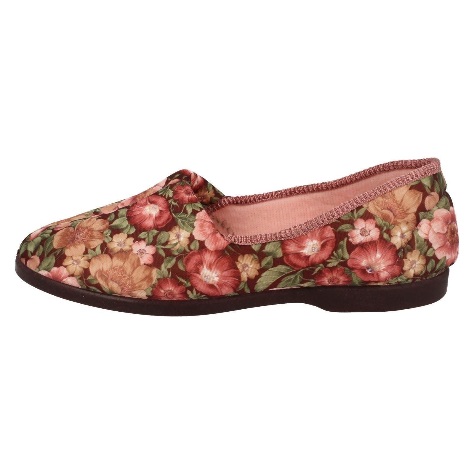 Señoras Lady Love Slip On Zapatillas Garden Print