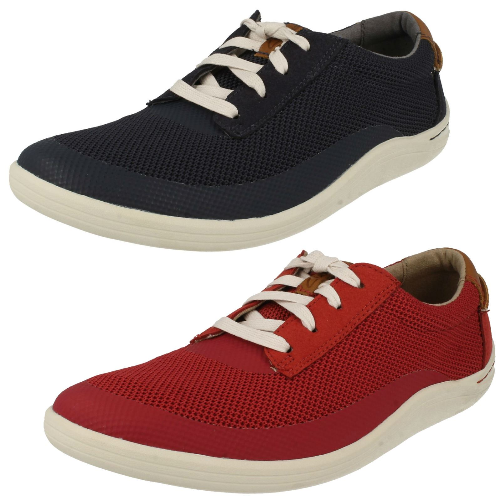 Mens Clarks Casual Lace Up shoes 'Mapped Edge'
