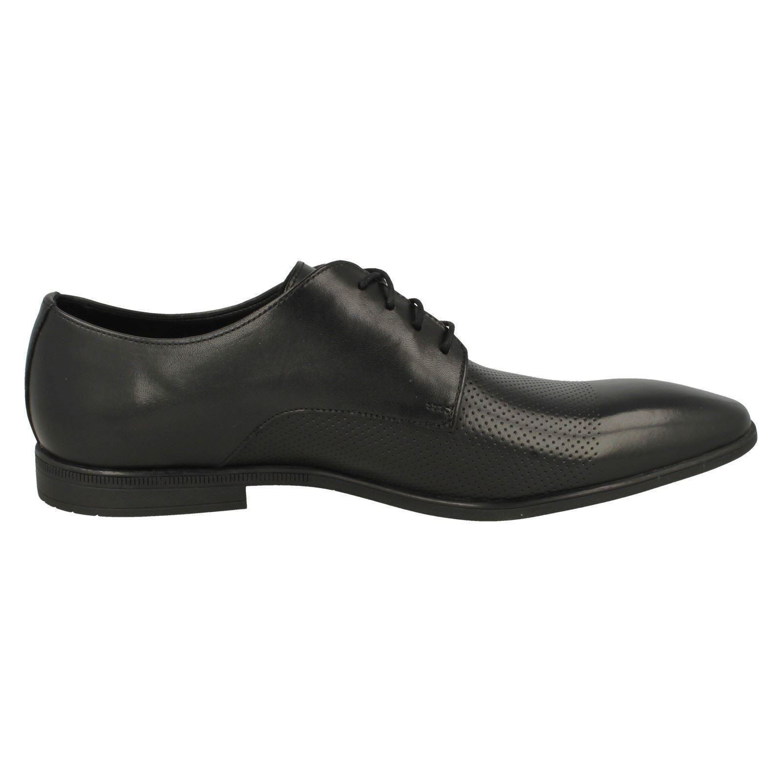 Uomo Clarks Formal Toe Lace Up Leder Rounded Toe Formal Schuhes - 'Bampton Cap' 1d030e