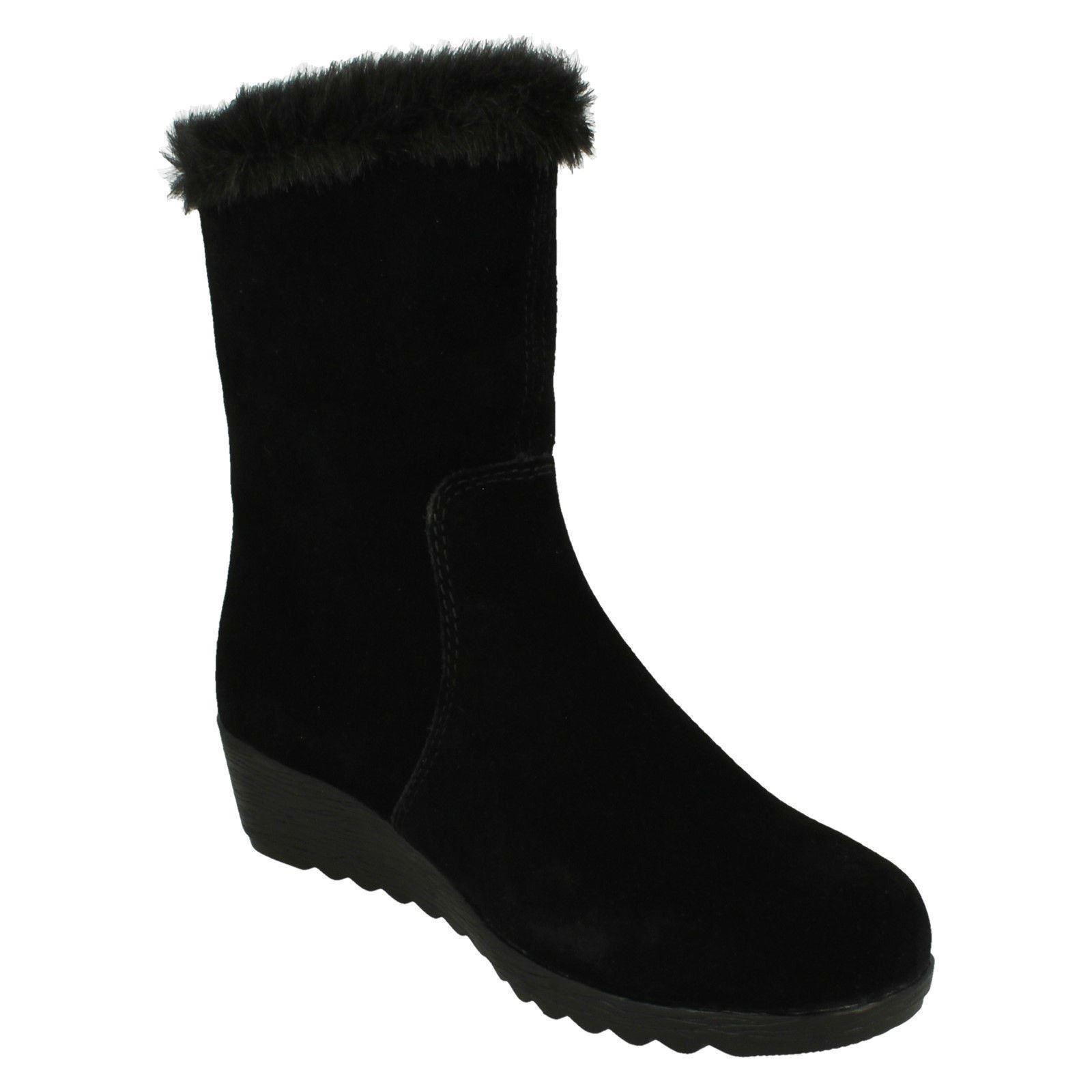 Damas Lana Rieker Lana Damas De Cordero Forrado botas al tobillo-Z2470 d6ebe7