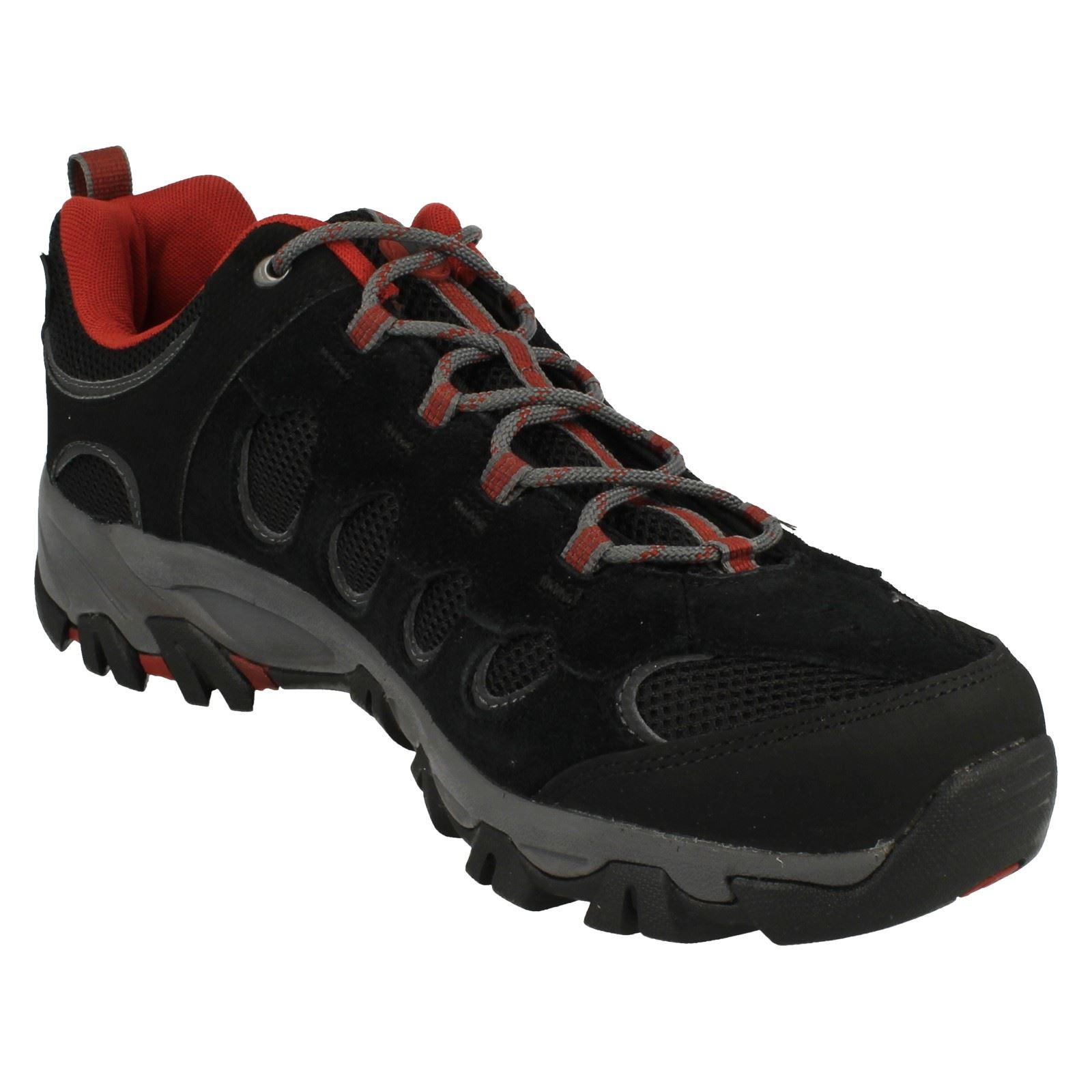 Ridge black Pass Mens Trainers Walking Ochre Merrell red Black txvOfwqv