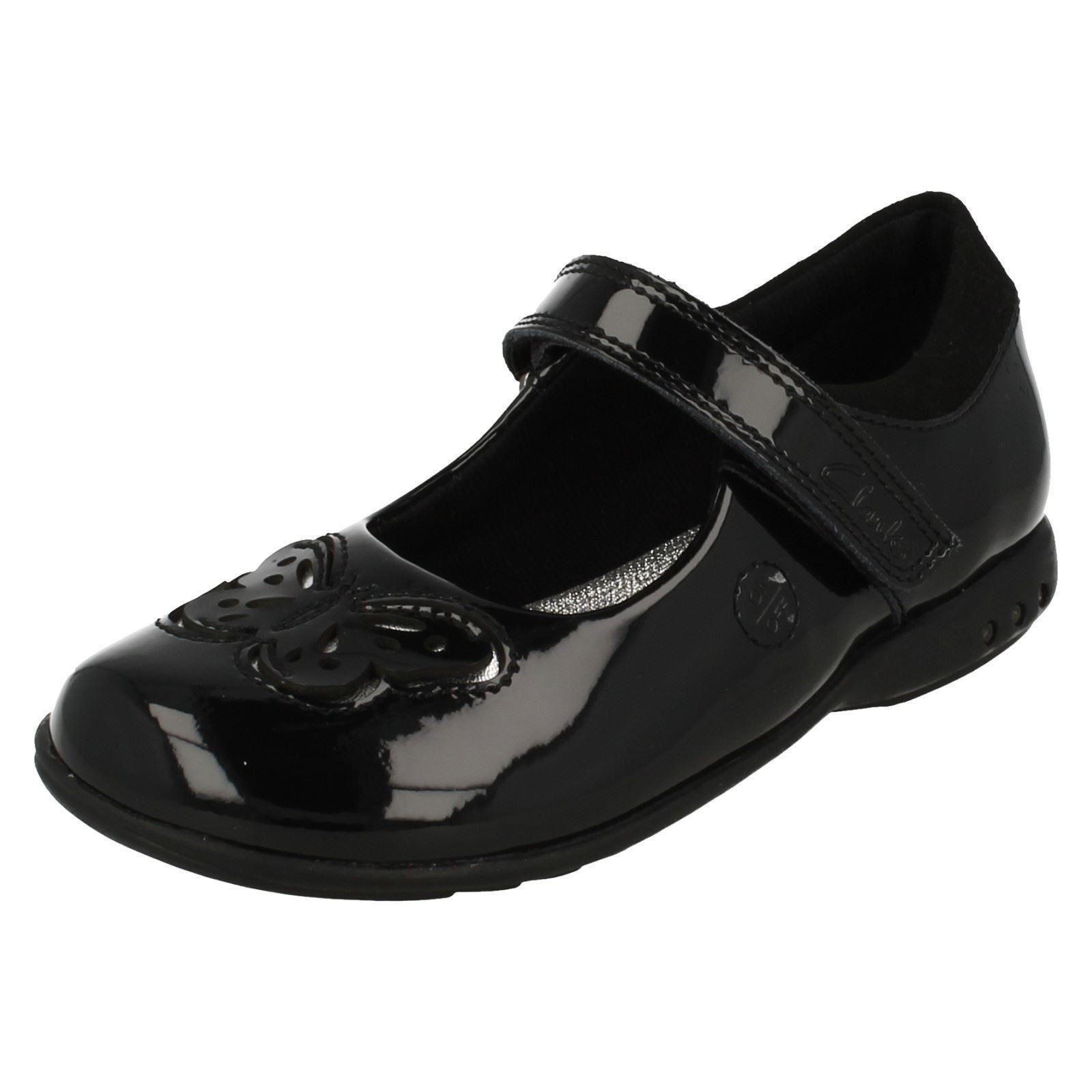 6407bfdd122c Girls Clarks Lights on School Shoes Trixi Rose UK 7.5 Infant Black Patent  F. About this product. Picture 1 of 10  Picture 2 of 10 ...