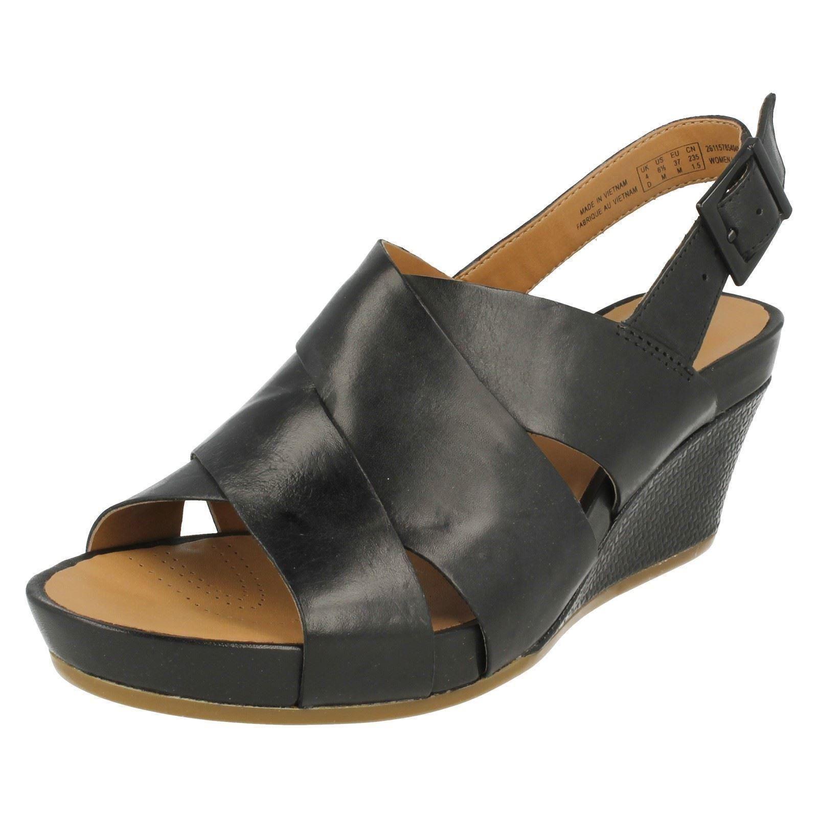 Men's/Women's Clarks Ladies Clarks Men's/Women's Wedge Sandals Rusty Rizz elegant Fast delivery various kinds f897c8