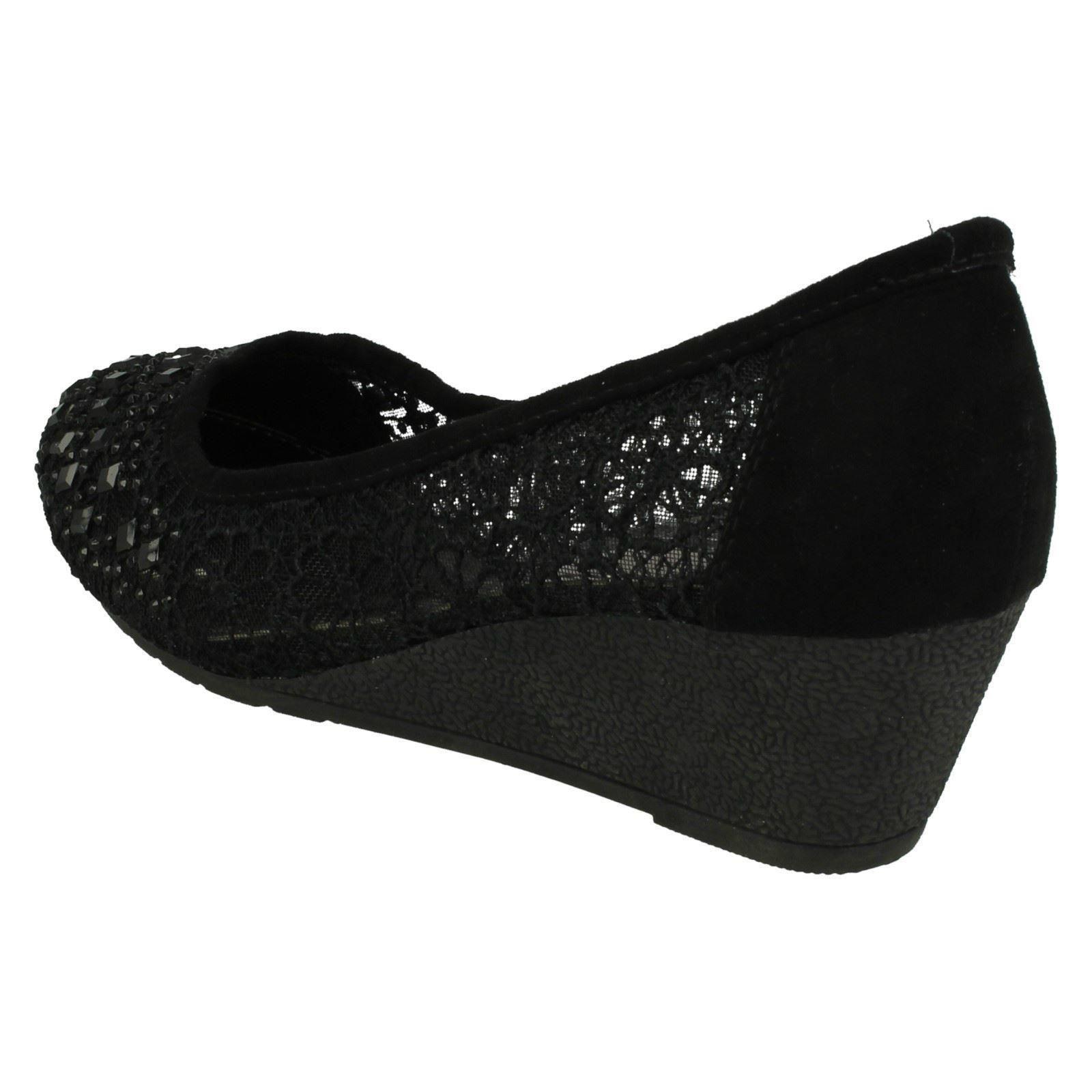 'Court' Court Anne Wedge Mid Noir Chaussures qIHwvC5