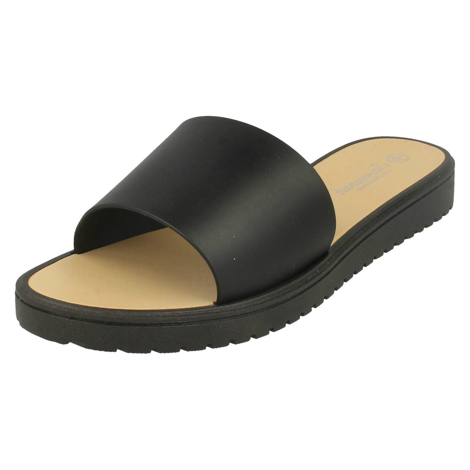 Ladies F0807 synthetic mule sandals by Savannah Sale Retail price £5.99