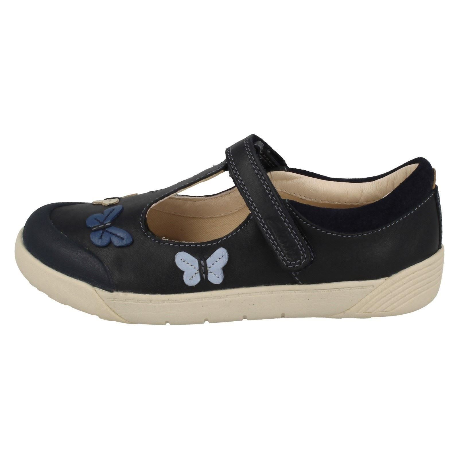 bar T Folk Clarks Navy Lil azul Flo Shoes Girls 7RwwEScxqU