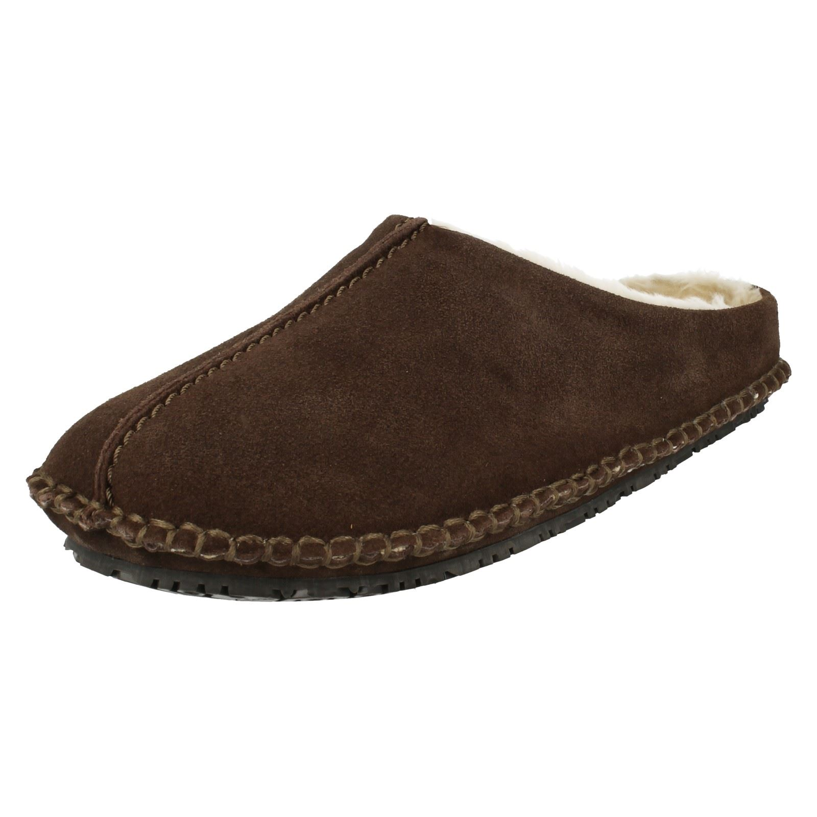 Mens Clarks Mule Slippers Kite Nordic