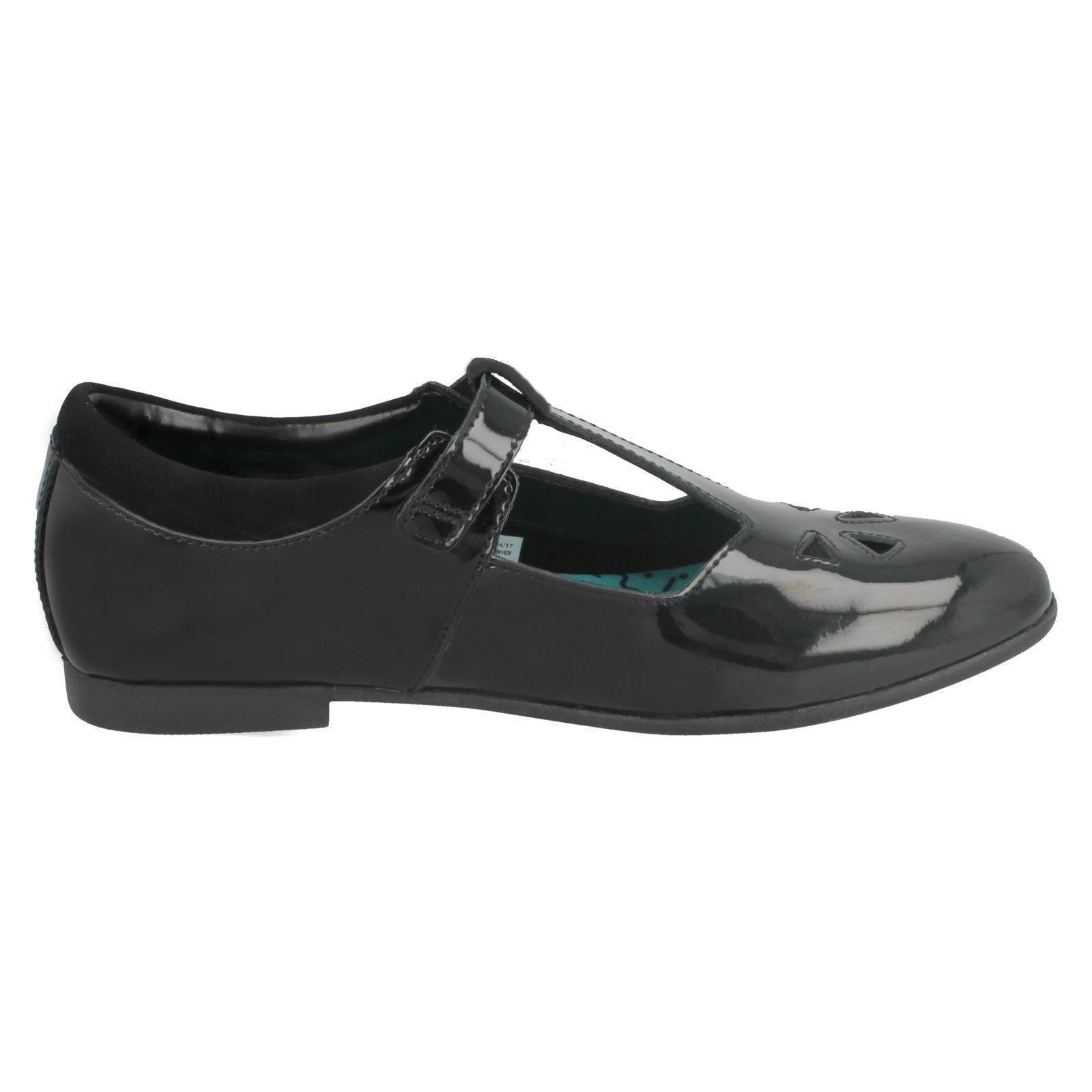 Niñas Bootleg Por Clarks Zapatos Escolares T-Bar Selsey Play