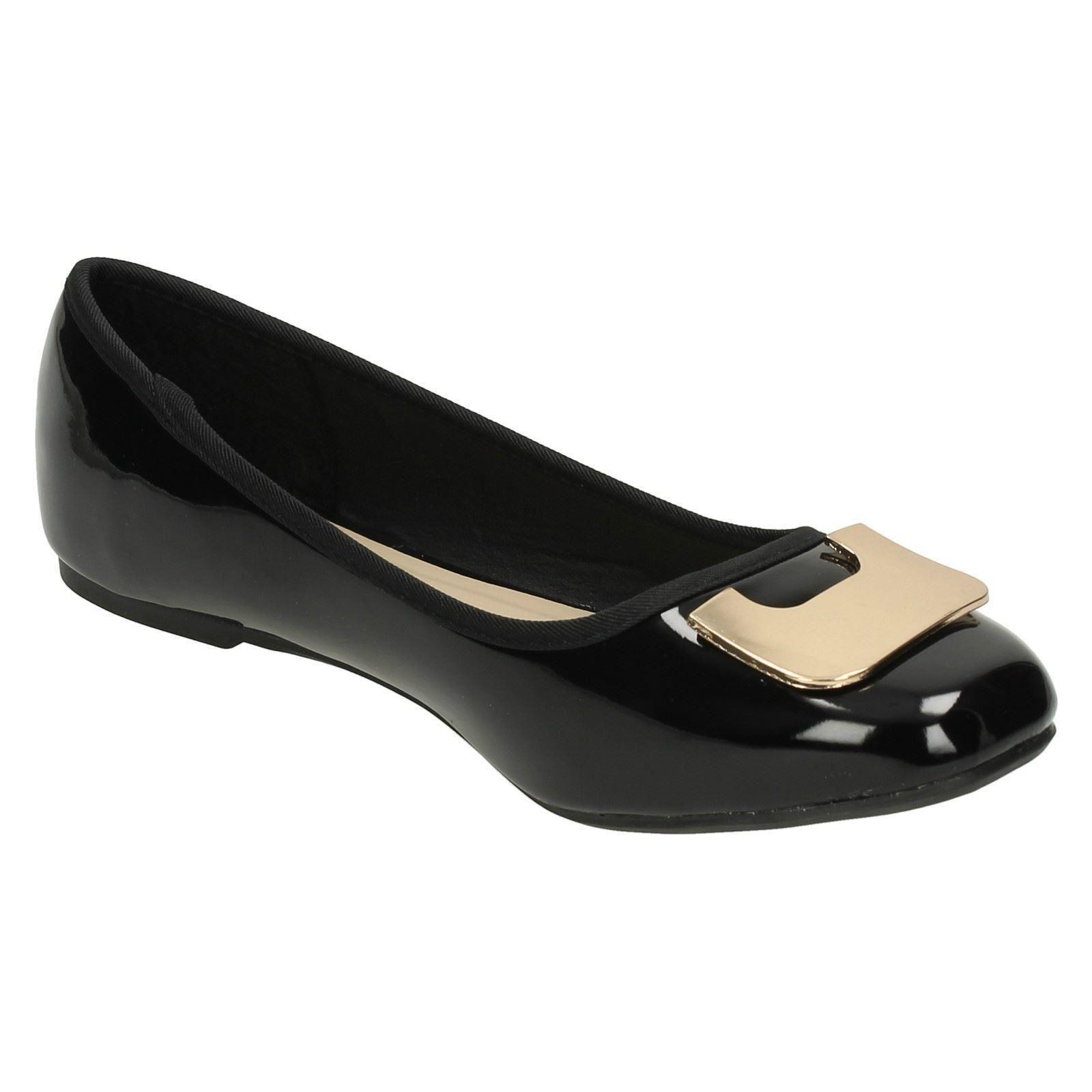 Zapatos señoras de punto en plano bailarina estilo 201'