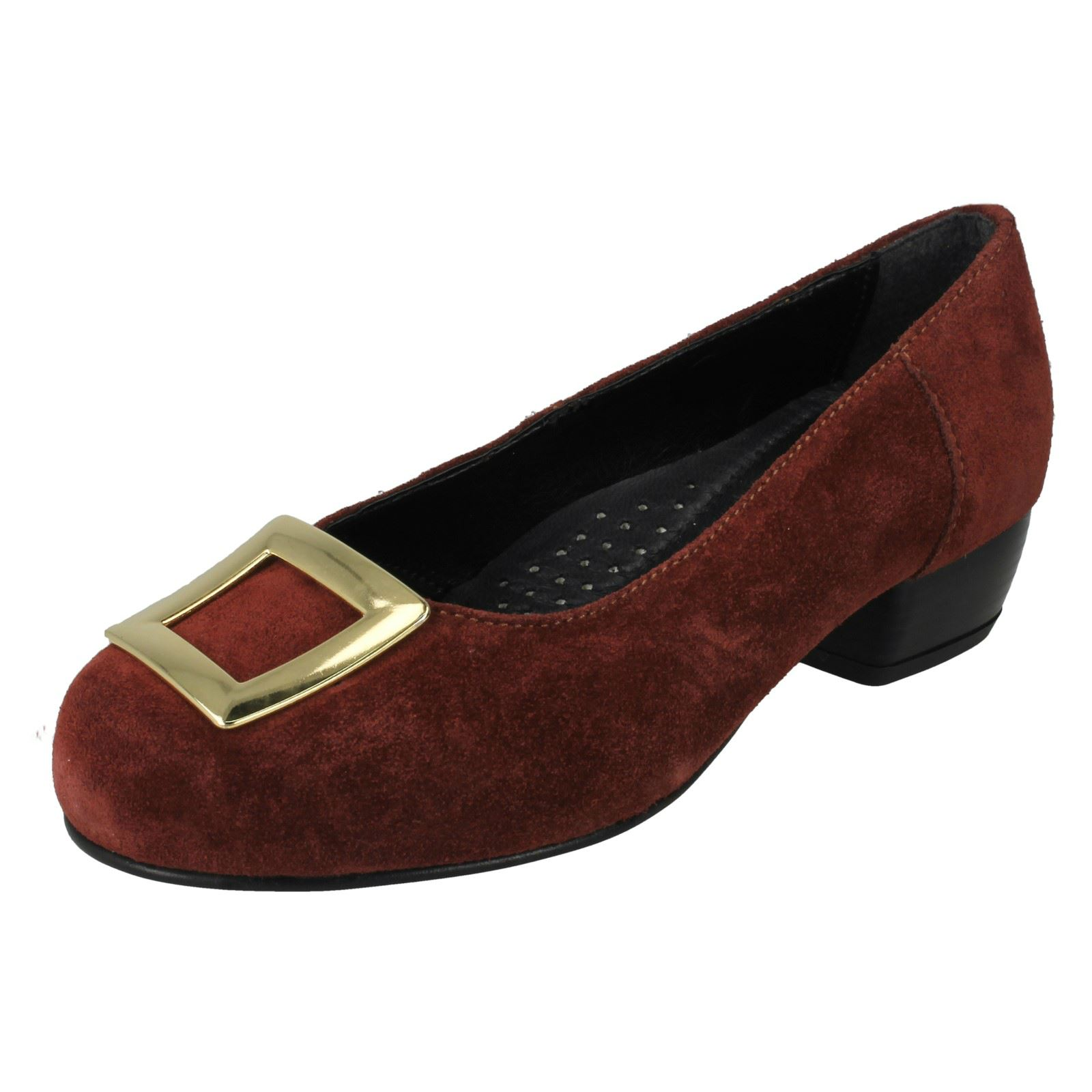 """Ladies DB Da Bella /"""" Kate/"""" Suede Court Shoes in Wide Width Fittings.."""